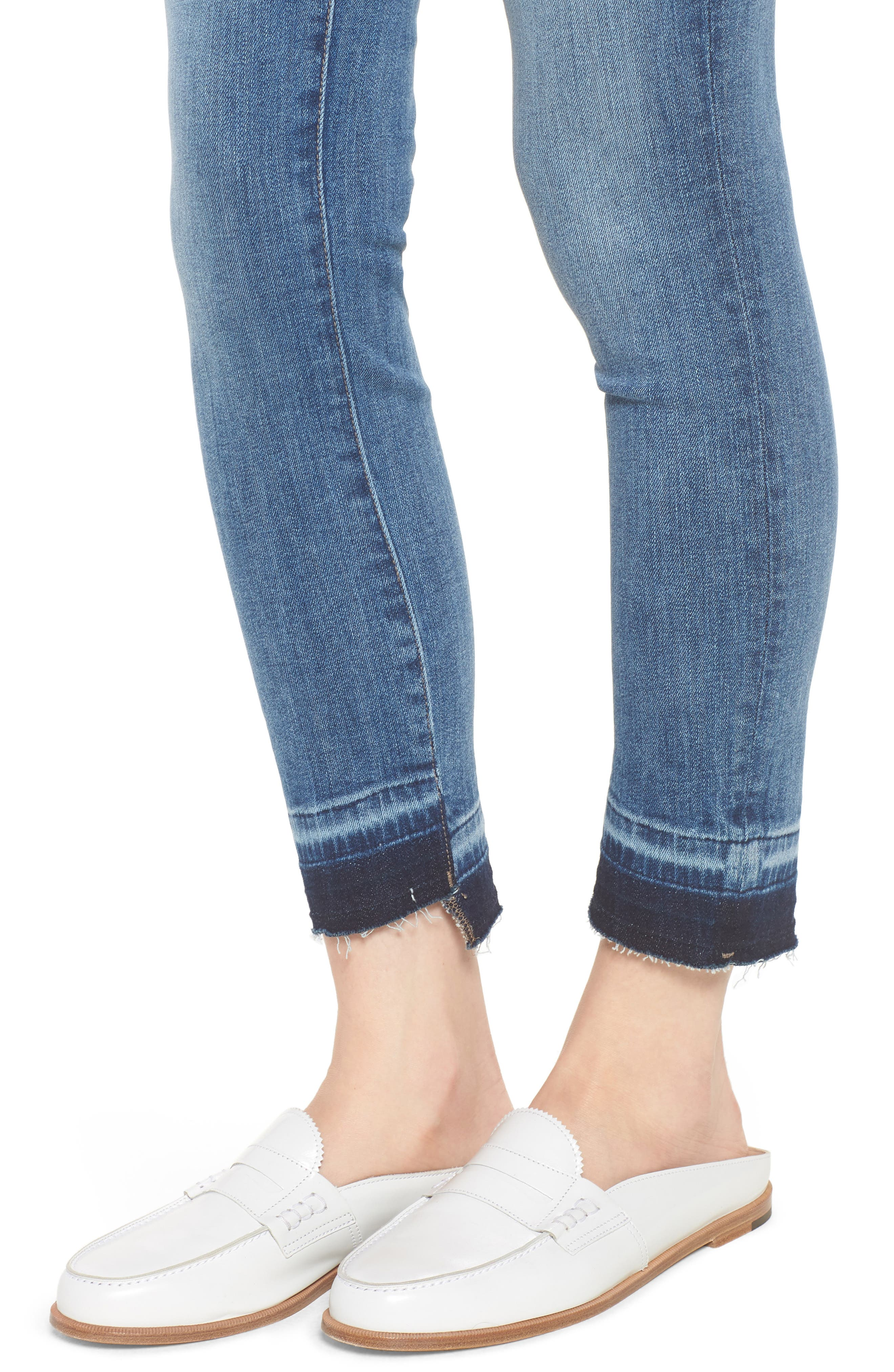 Margaux Instasculpt Ankle Skinny Jeans,                             Alternate thumbnail 4, color,                             Costa Mesa