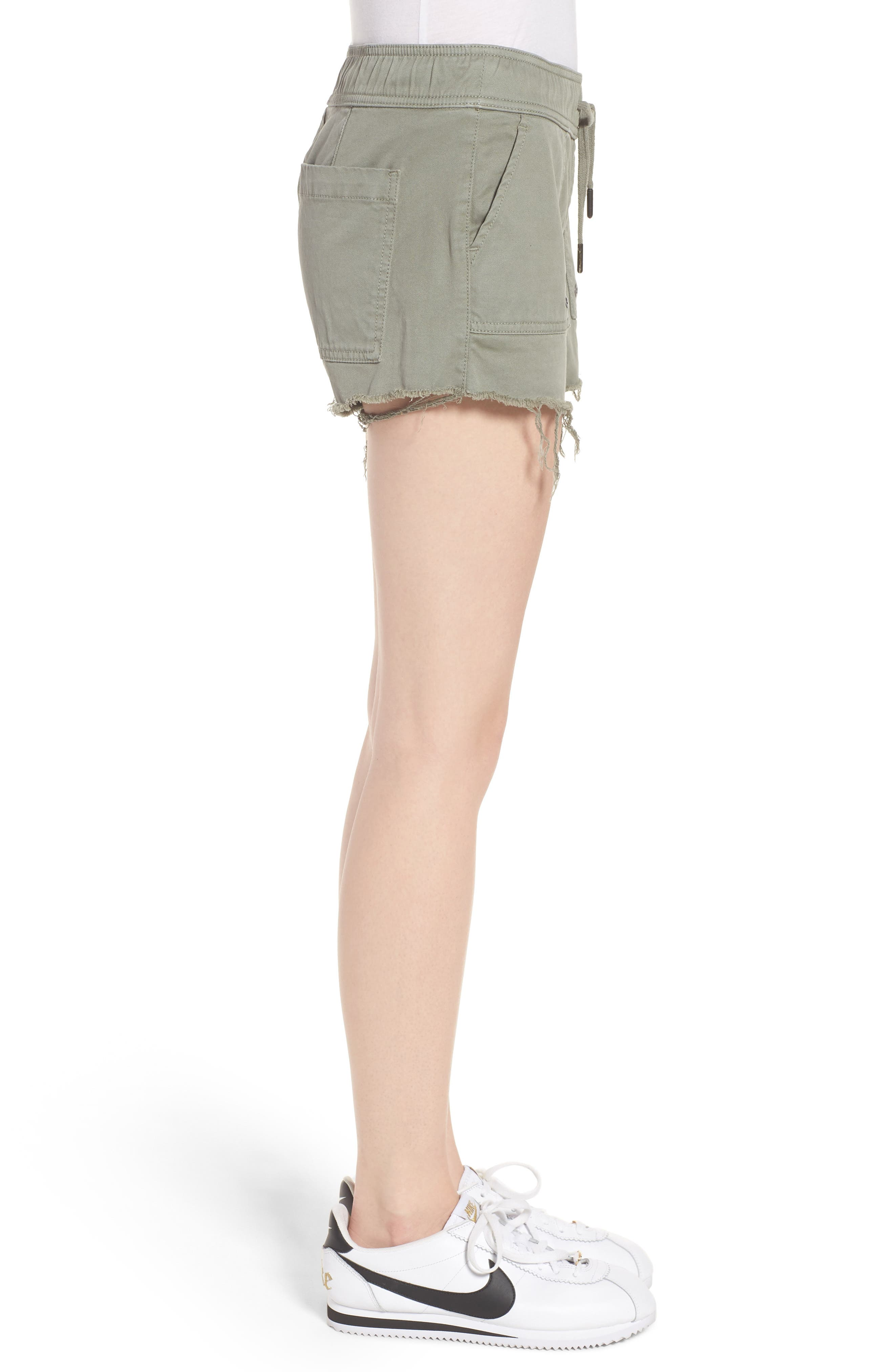 Flynn Low Rise Military Shorts,                             Alternate thumbnail 3, color,                             Grove