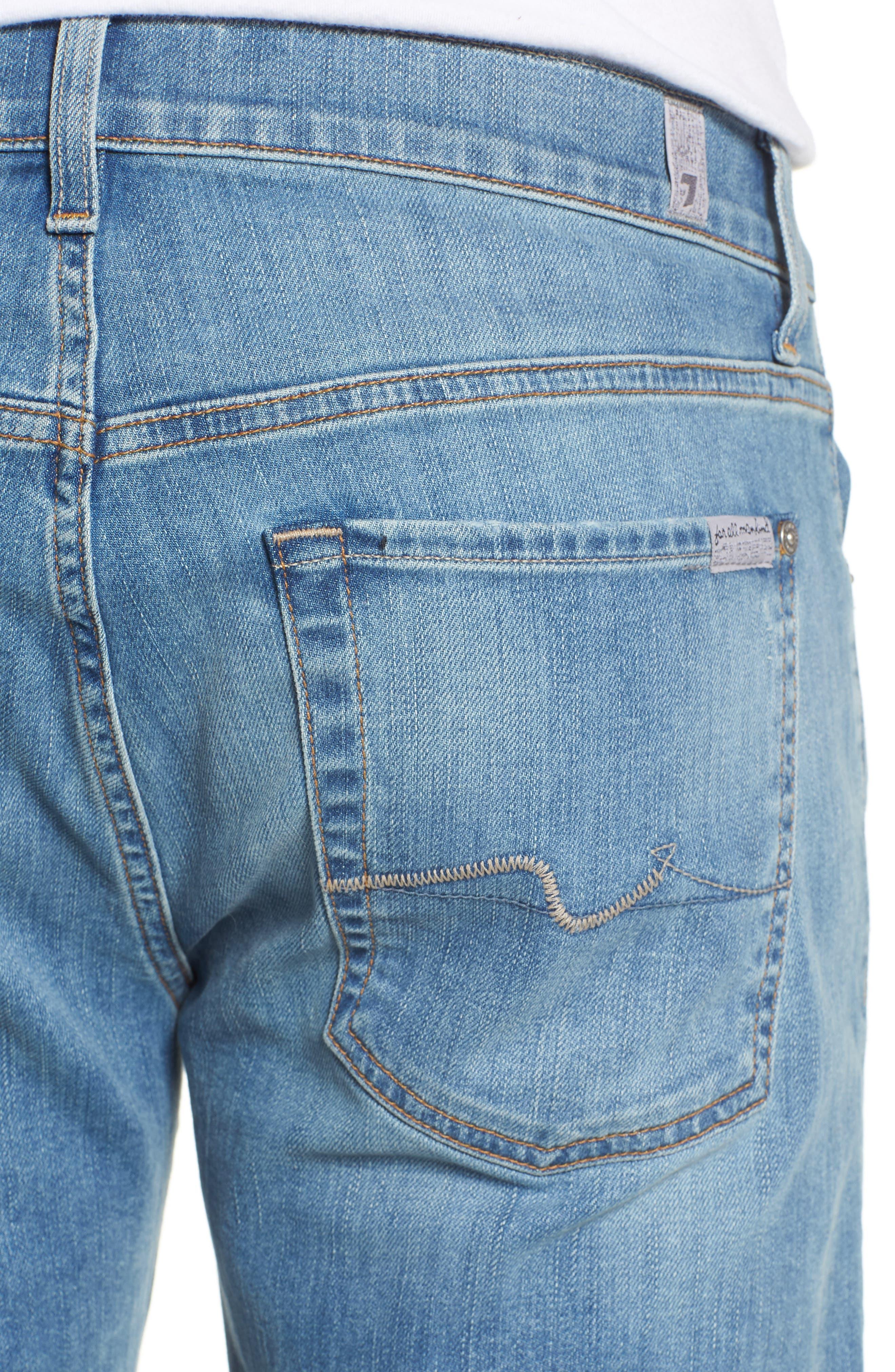 The Straight Slim Straight Leg Jeans,                             Alternate thumbnail 4, color,                             Valhalla