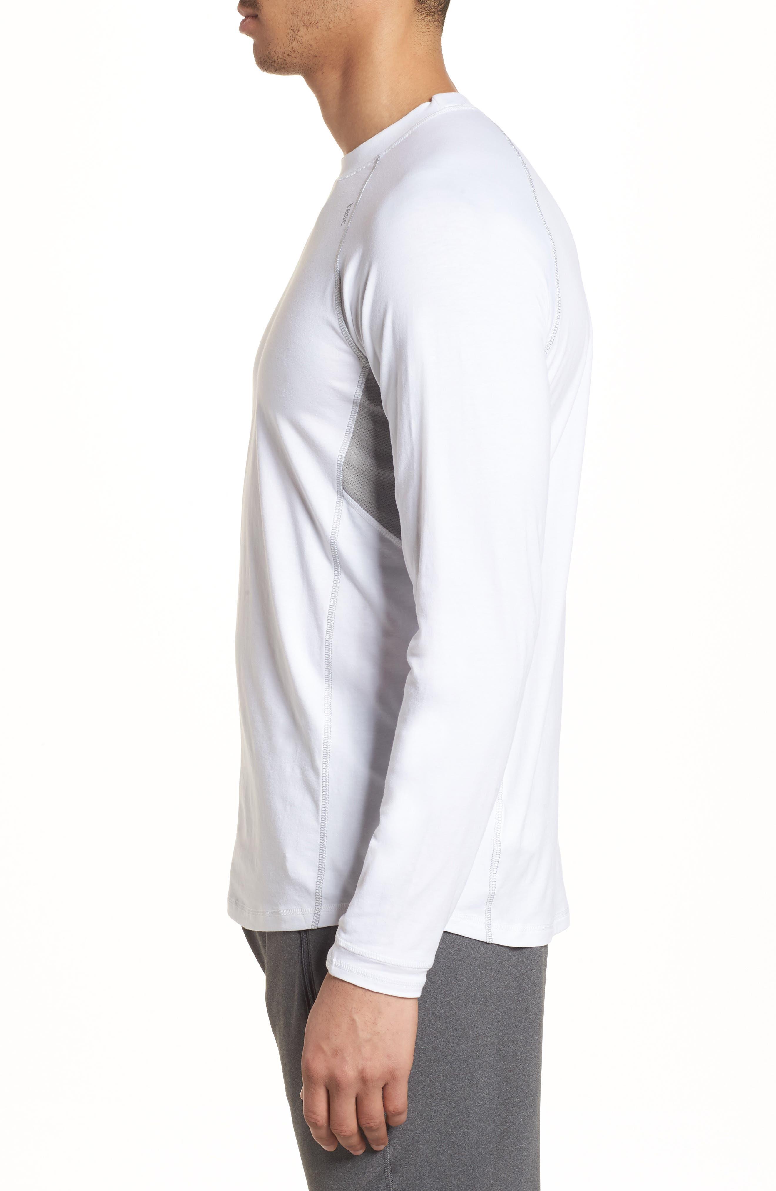 Charge II Long Sleeve T-Shirt,                             Alternate thumbnail 3, color,                             White