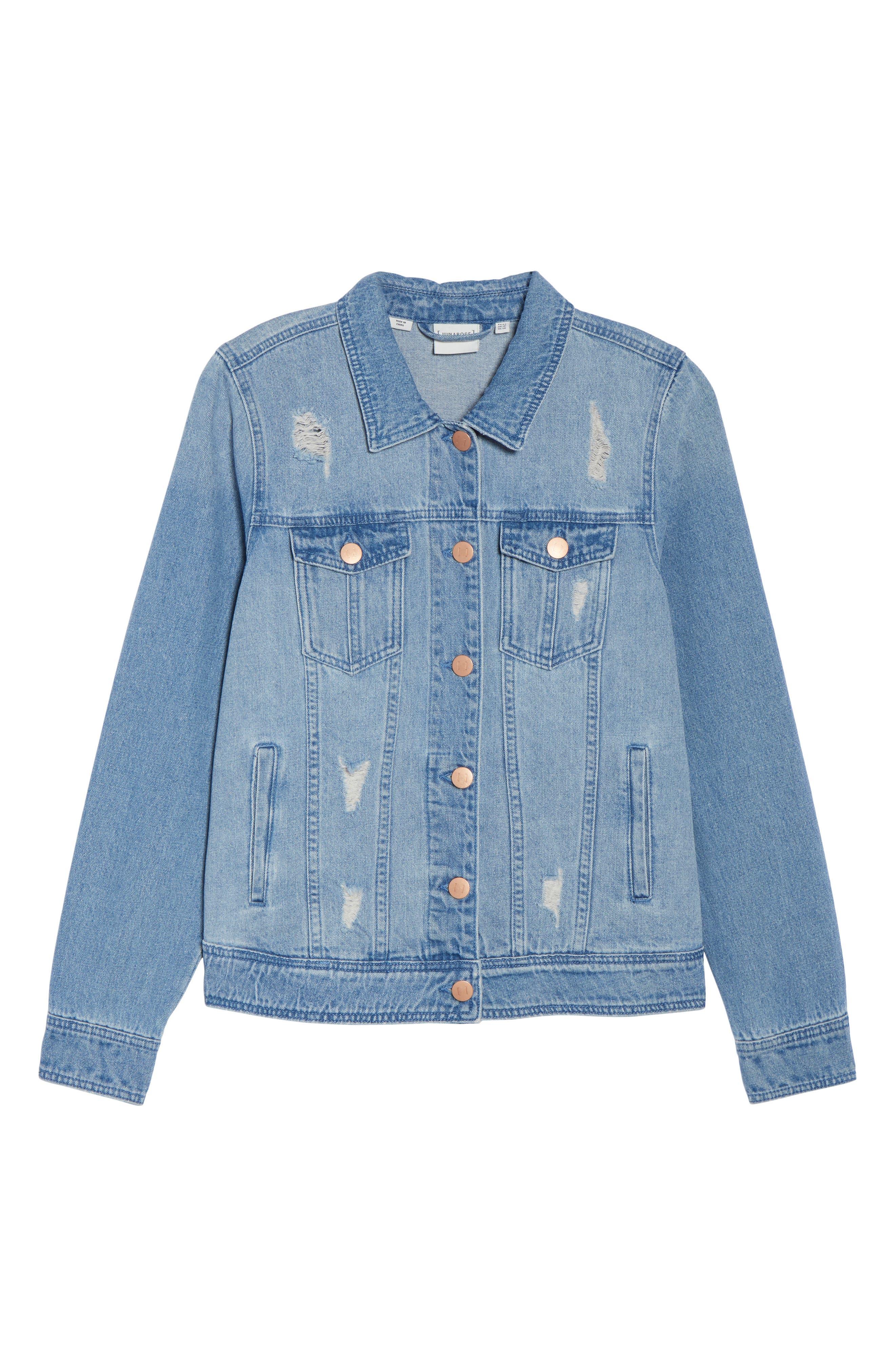 Alternate Image 6  - JUNAROSE Altala Denim Jacket (Plus Size)