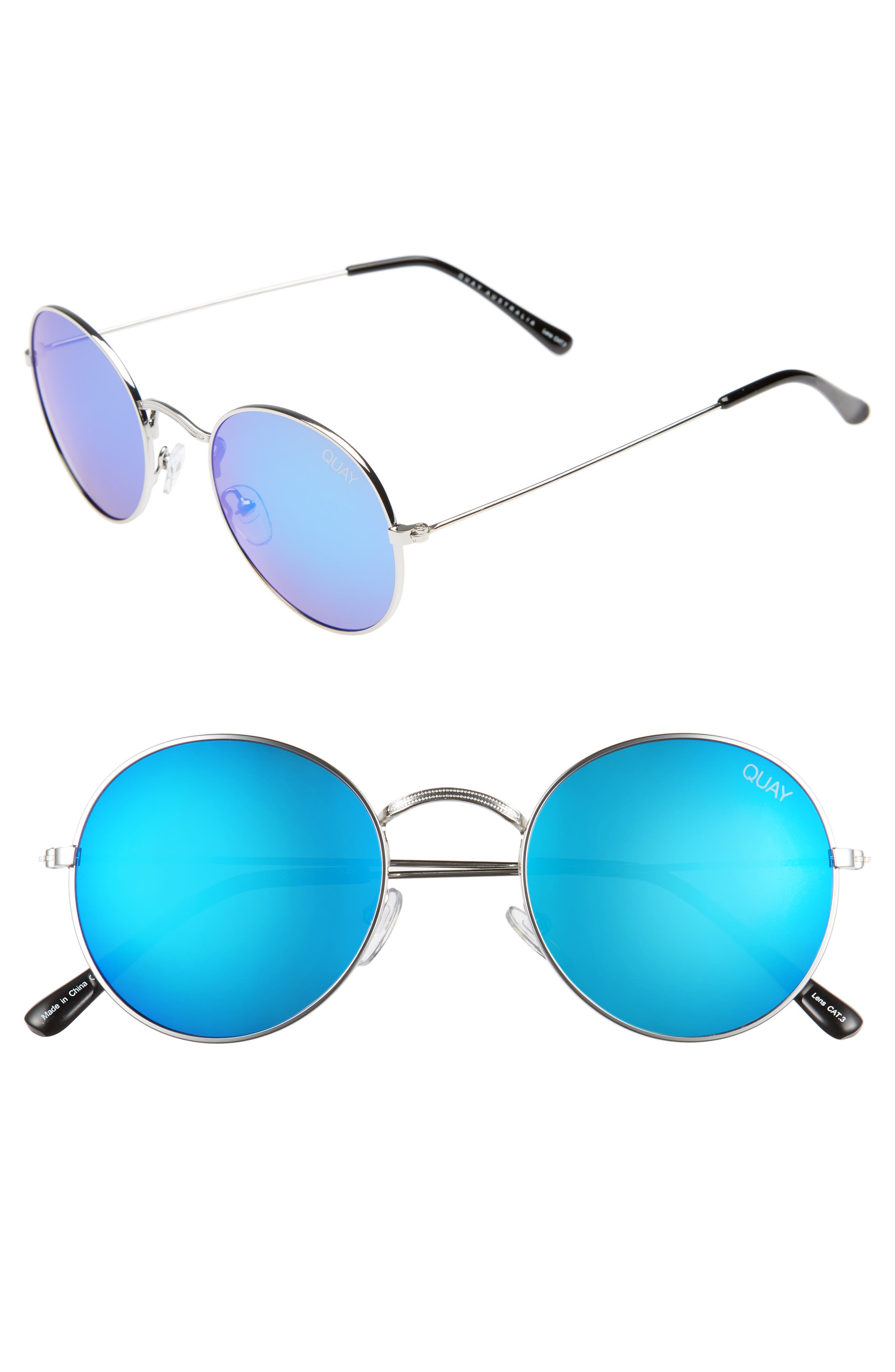 Alternate Image 1 Selected - Quay Australia 50mm Mod Star Round Sunglasses