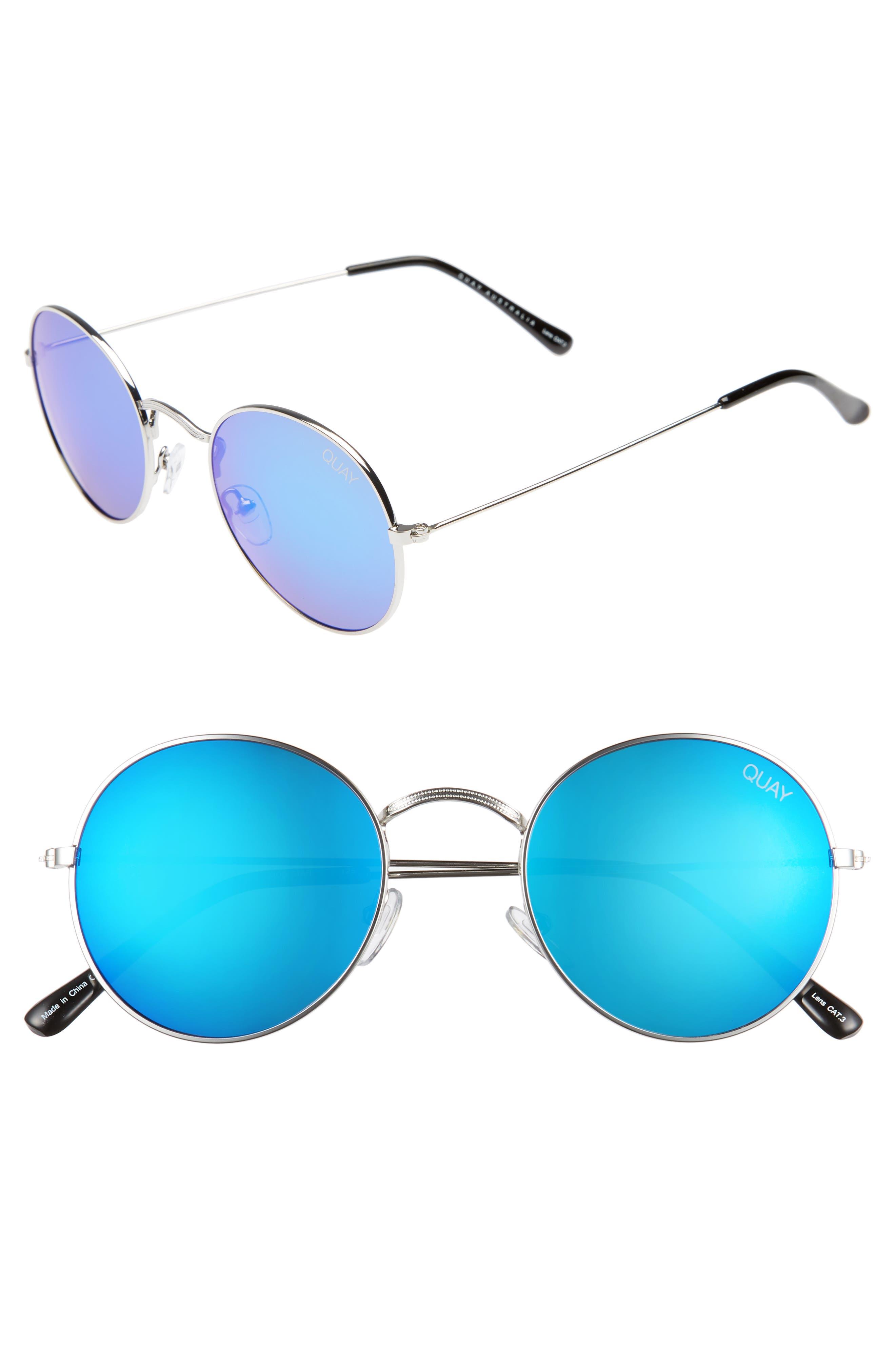 Quay Australia 50mm Mod Star Round Sunglasses
