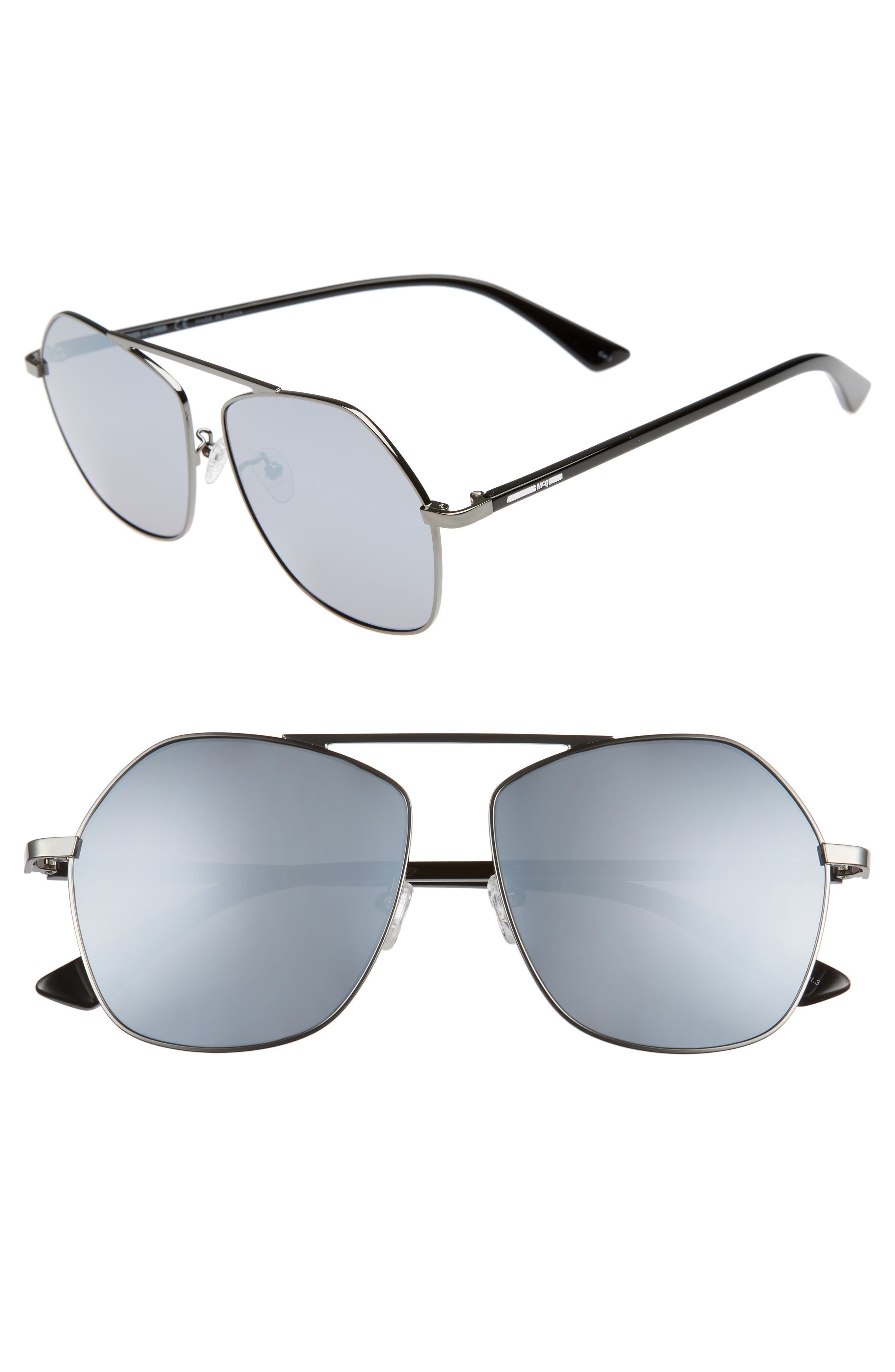 McQ Alexander McQueen 59mm Aviator Sunglasses