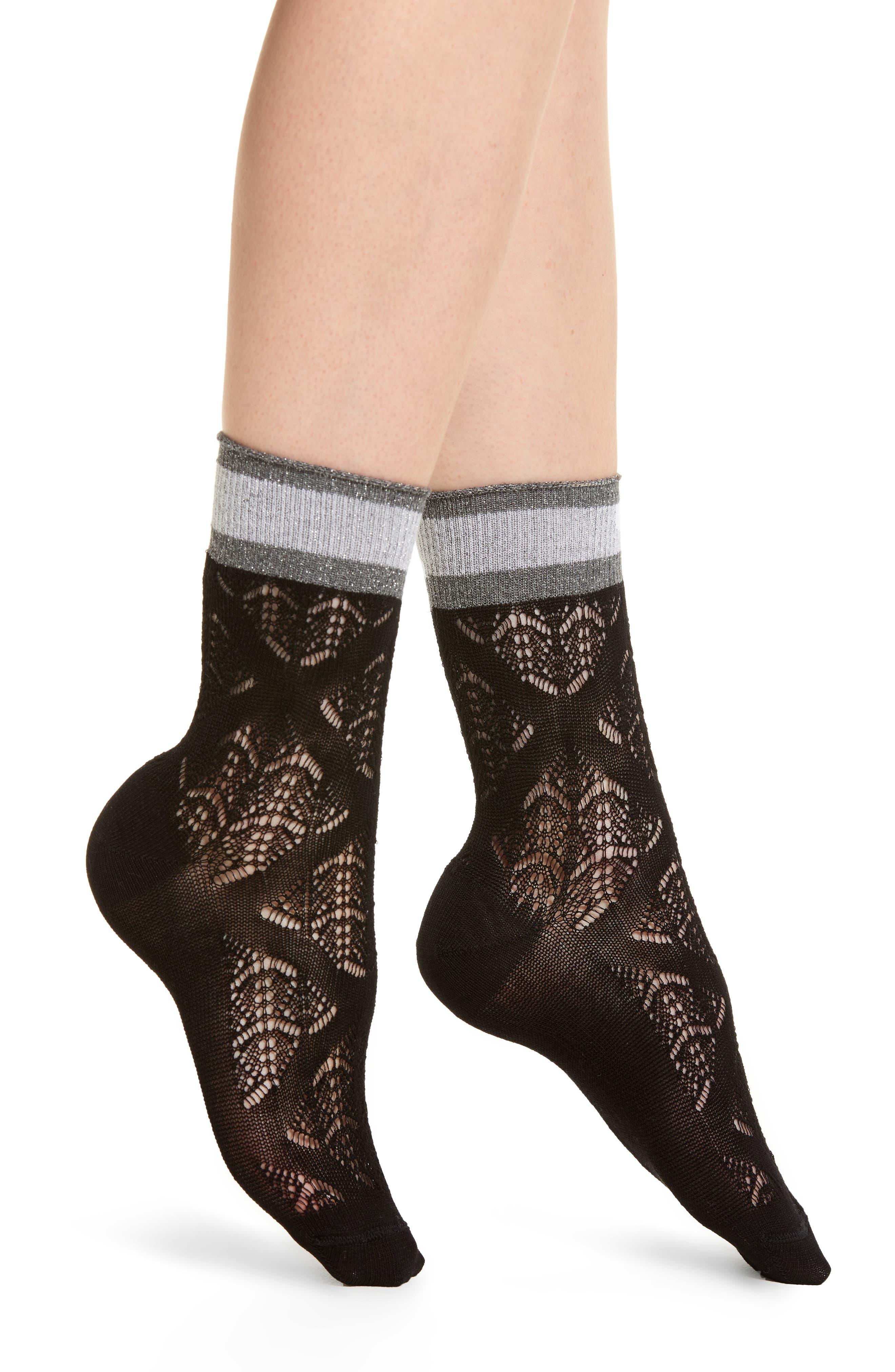 Croquet Trouser Socks,                         Main,                         color, Black