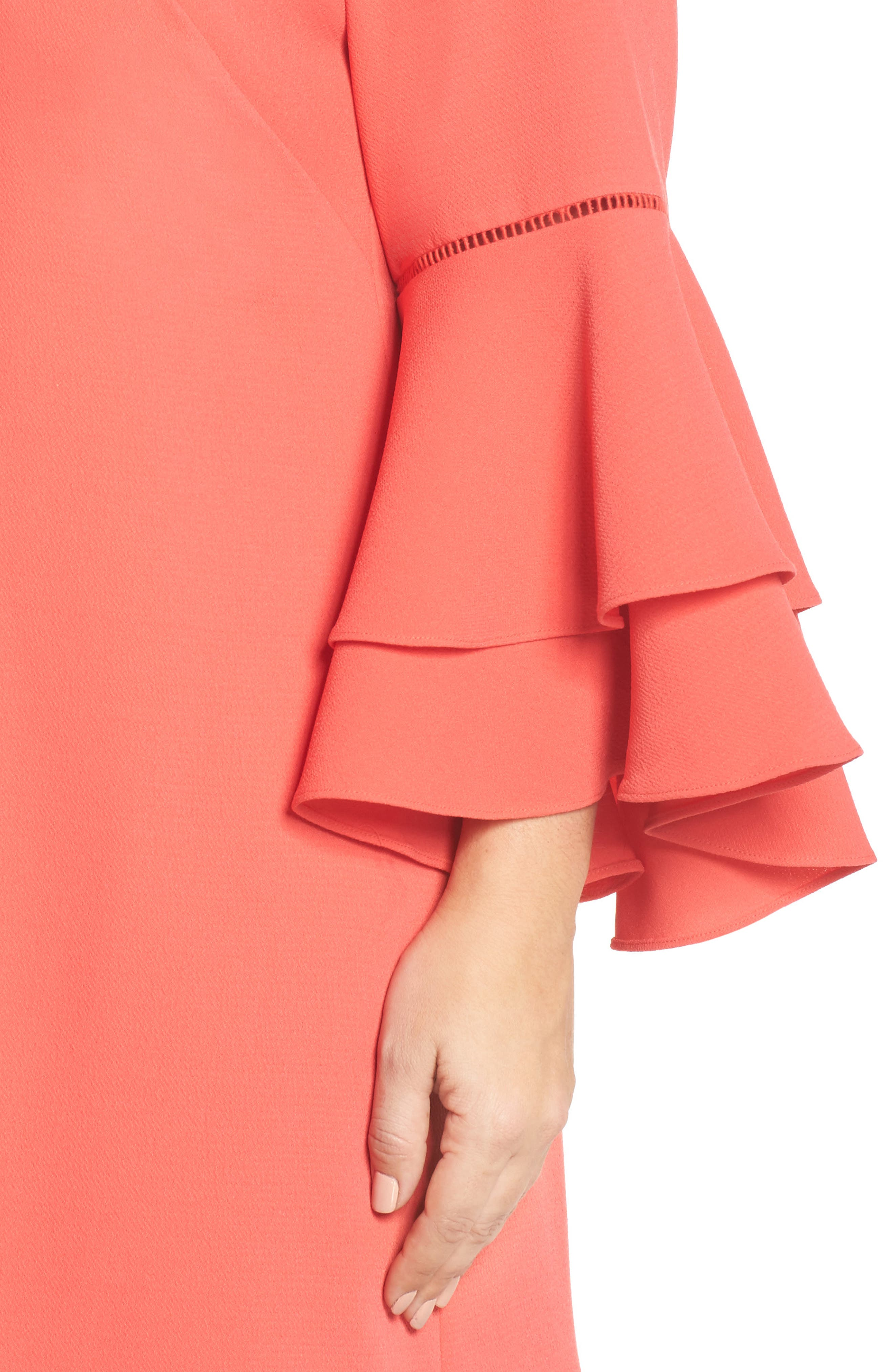 Alternate Image 4  - Chelsea28 Ruffle Bell Sleeve Shift Dress (Plus Size)