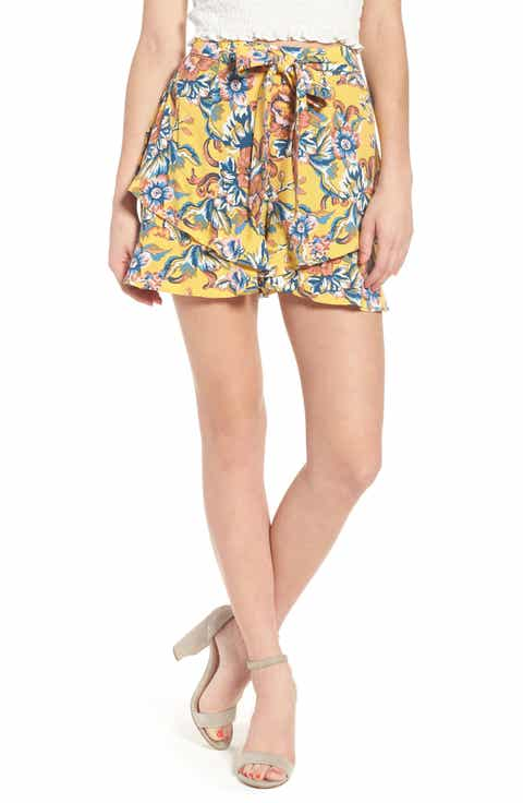 BP Print Ruffle Shorts