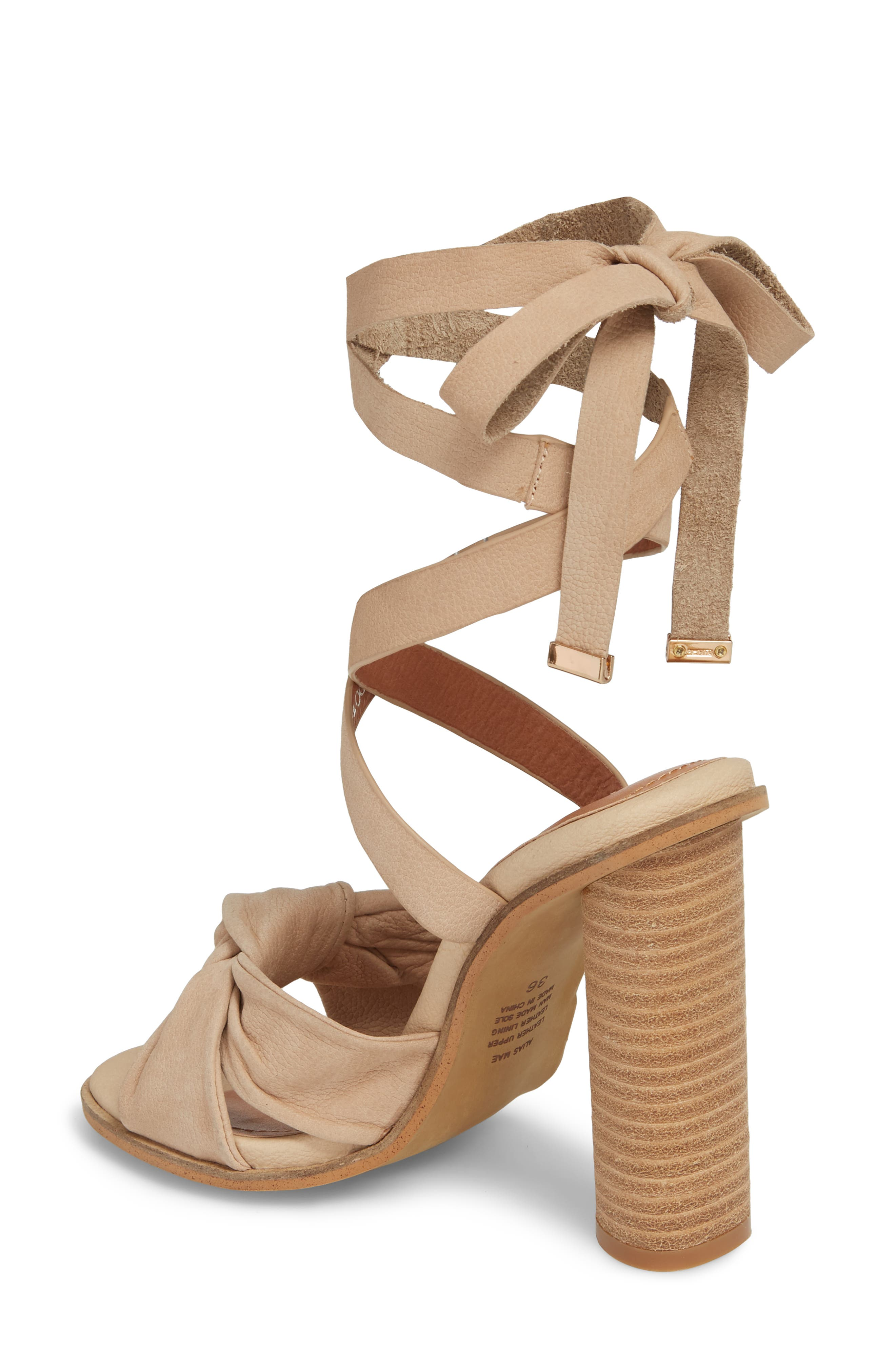 Africa Ankle Wrap Sandal,                             Alternate thumbnail 2, color,                             Natural Leather