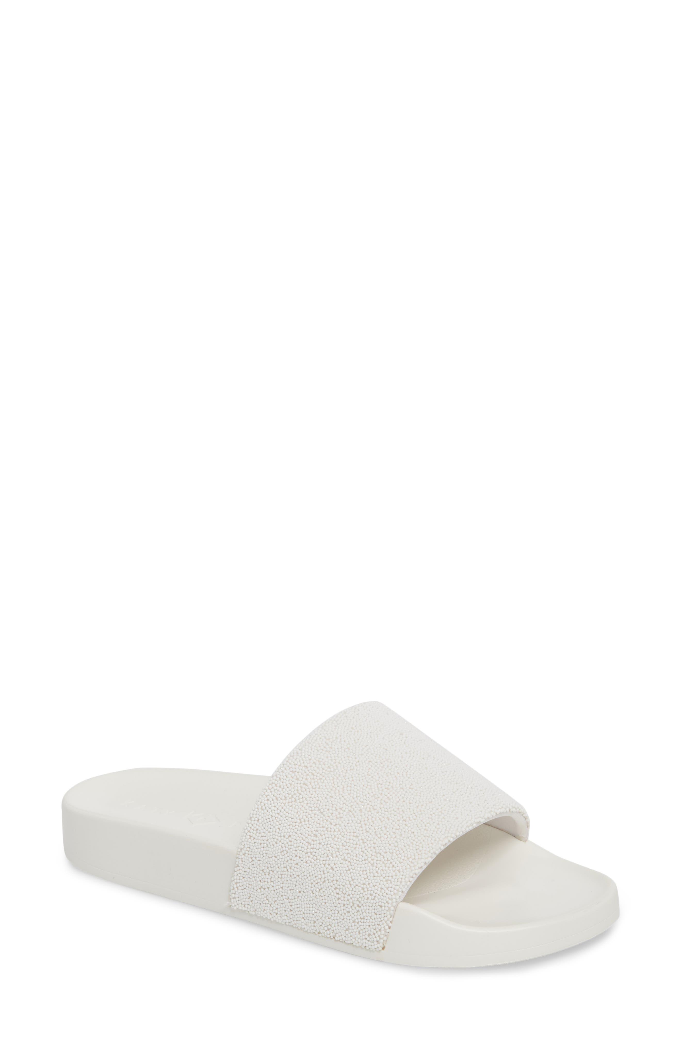 The Jimmi Slide Sandal,                             Main thumbnail 1, color,                             White