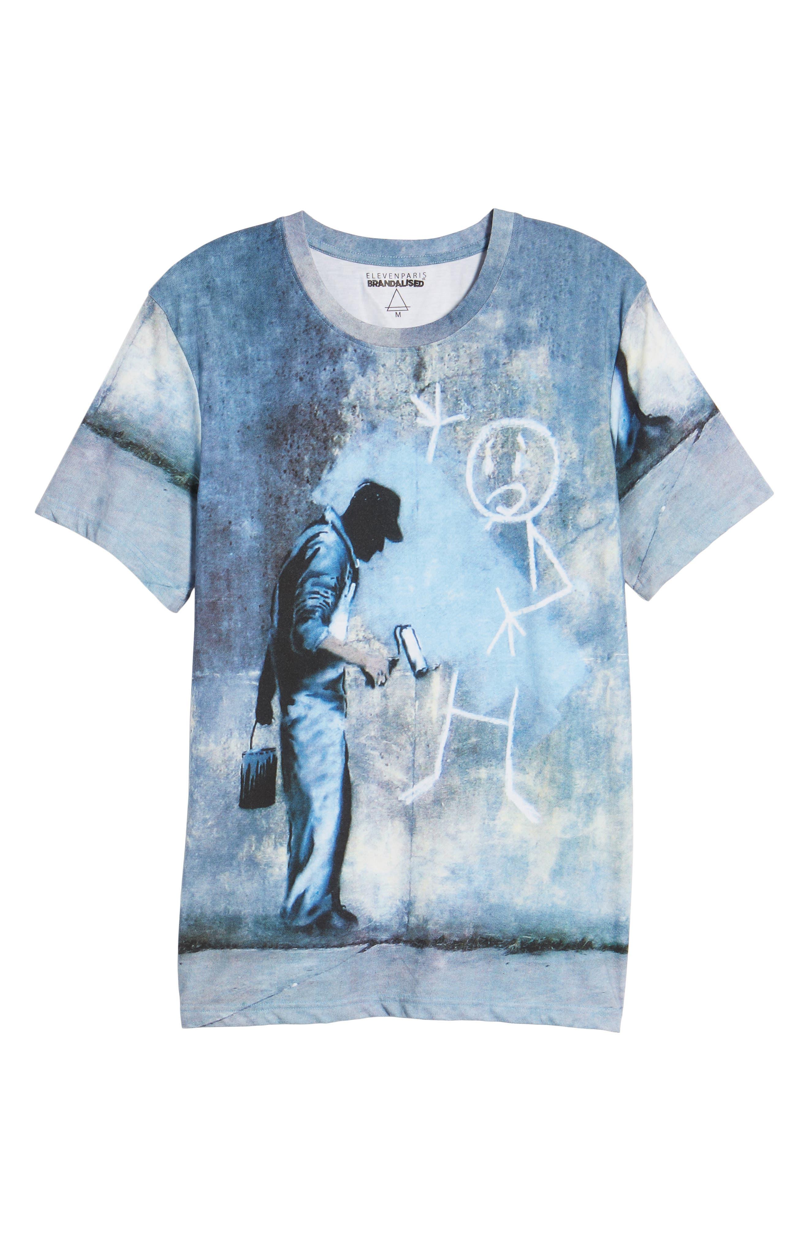 Grey Ghost T-Shirt,                             Alternate thumbnail 6, color,                             Blue/White