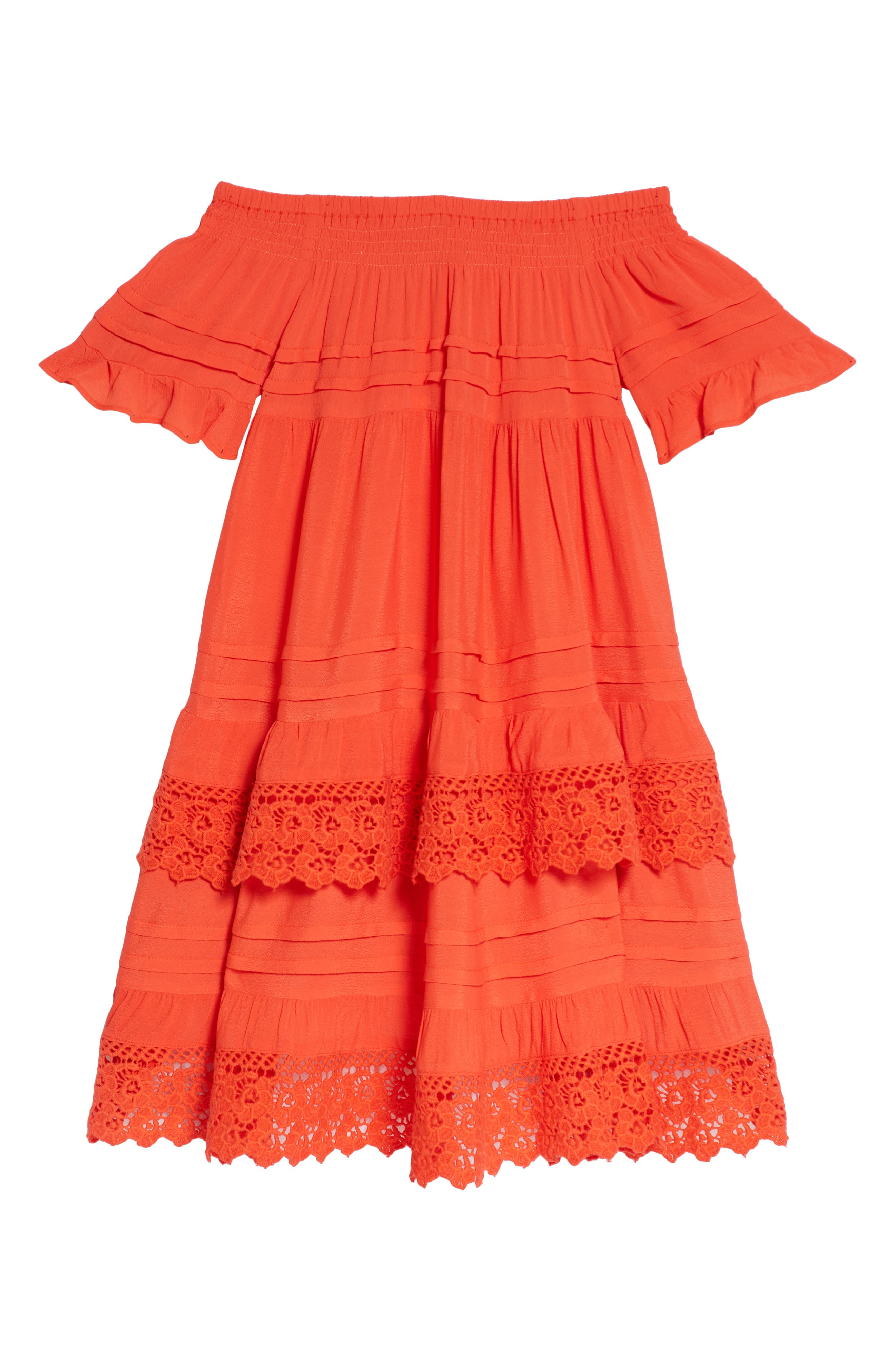 Esmerelda Cover-Up Dress,                         Main,                         color, Red