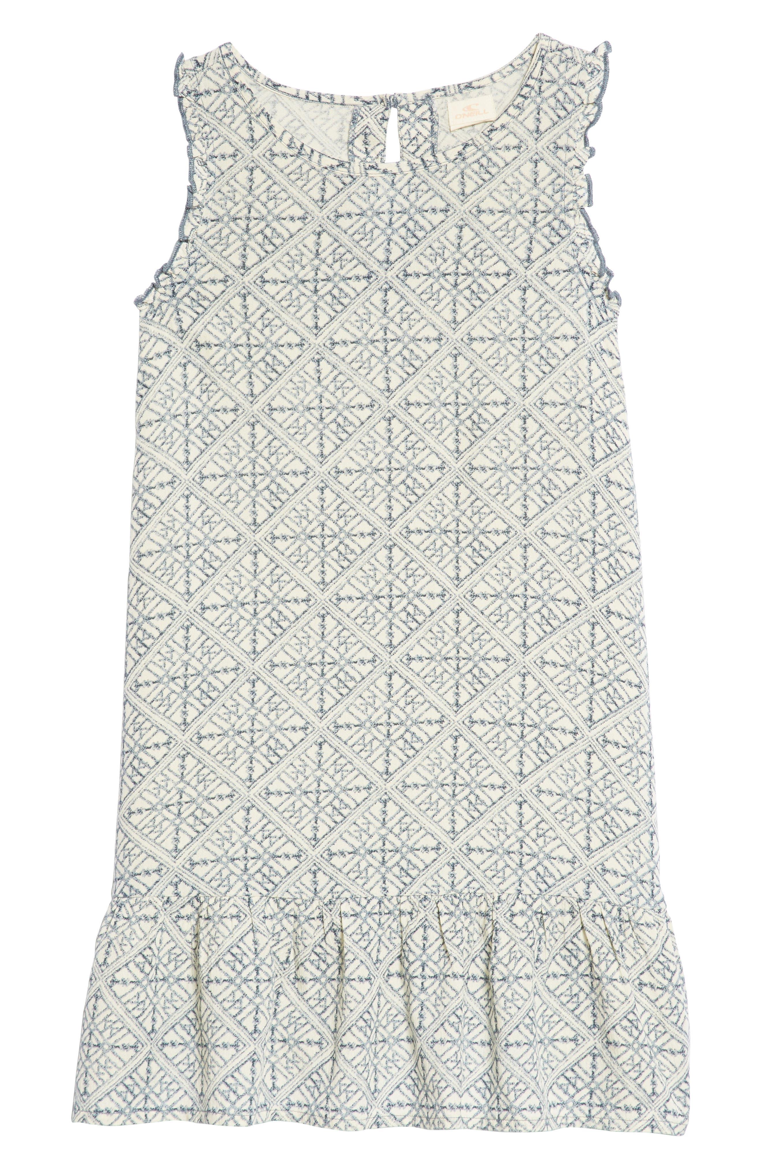 Lani Geo Print Shift Dress,                             Main thumbnail 1, color,                             Eventide