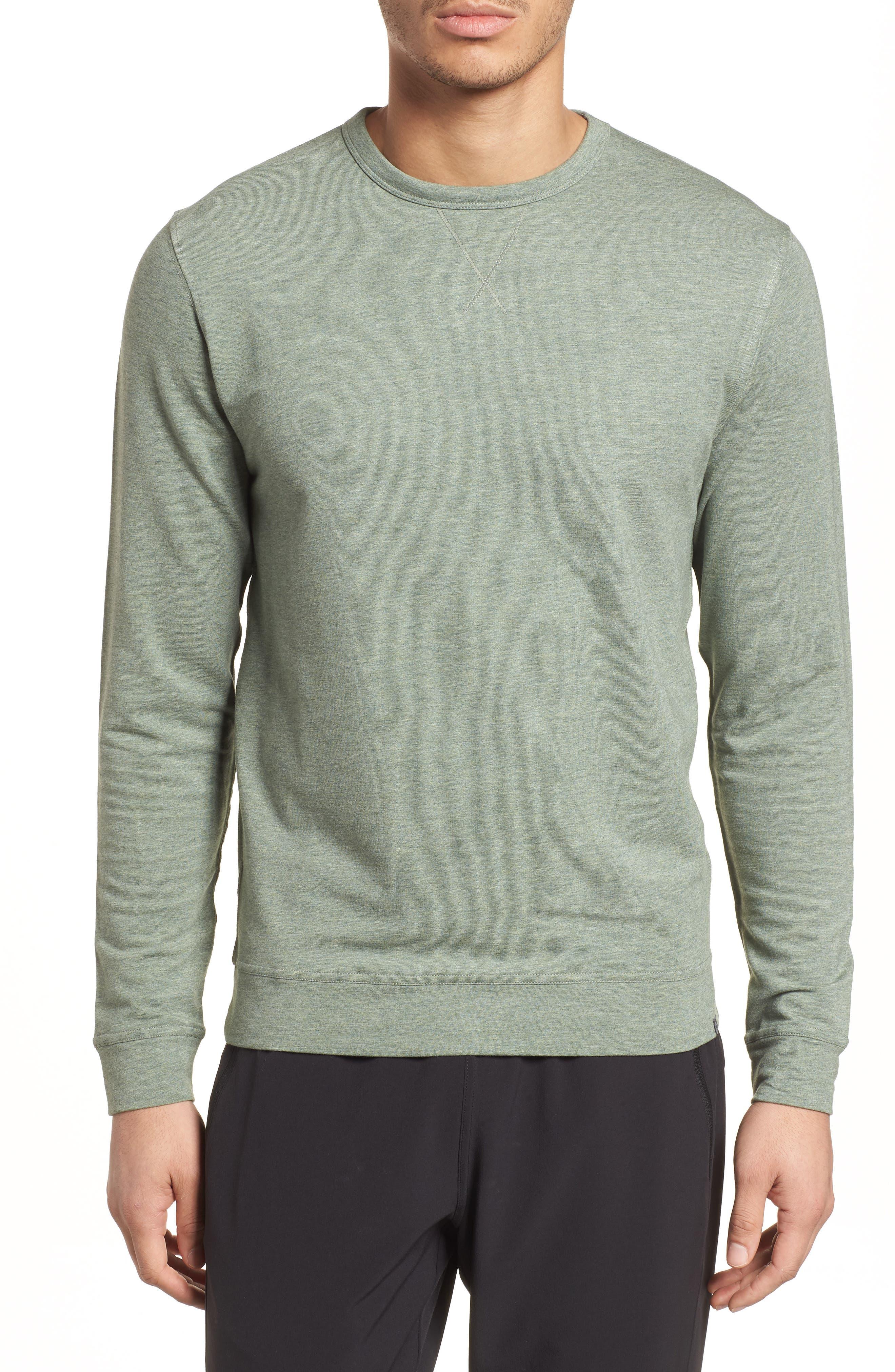 Legacy Crewneck Sweatshirt,                         Main,                         color, Kelp Heather