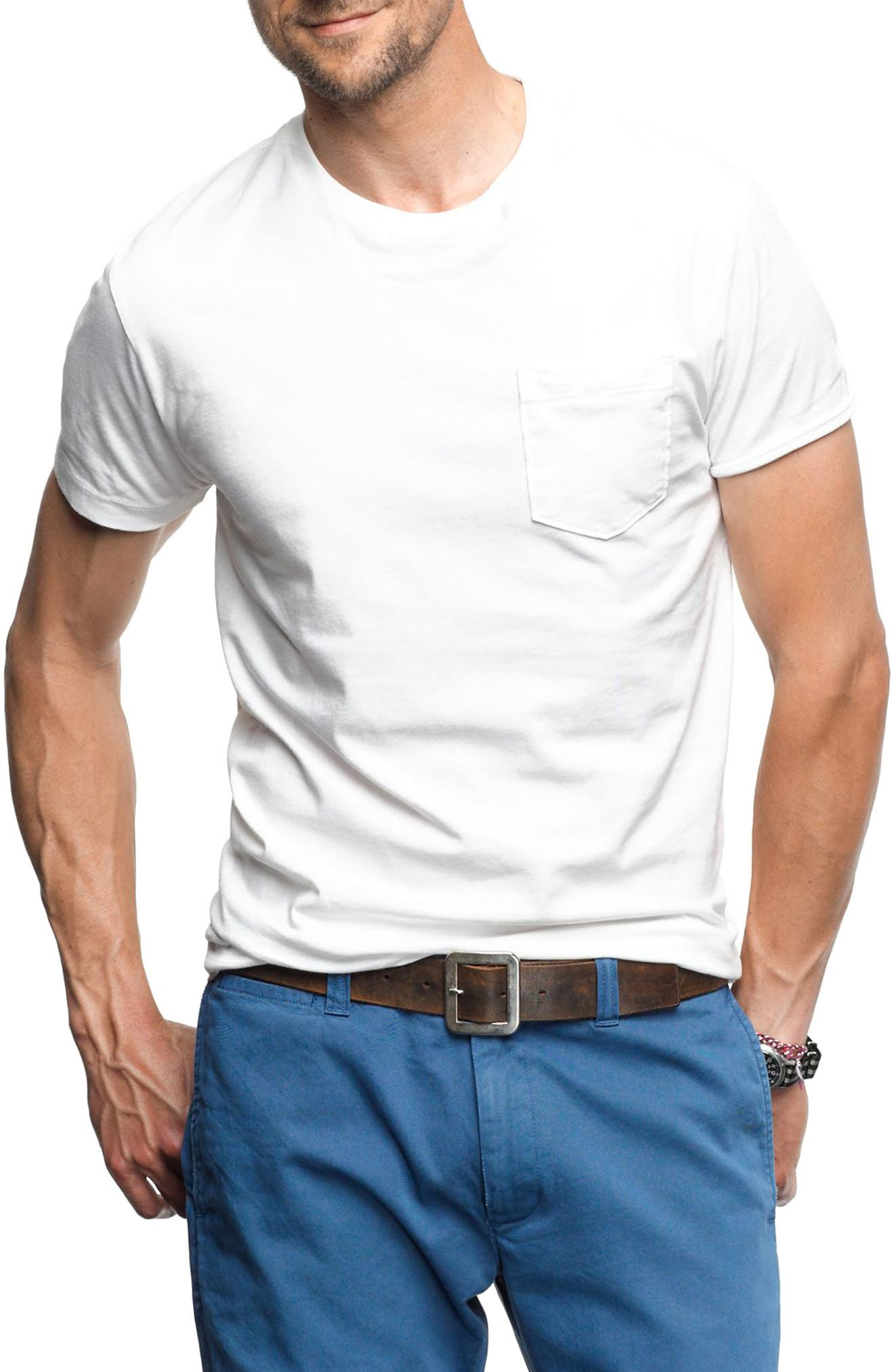 Alternate Image 1 Selected - J.Crew Slim Fit Broken-In Pocket T-Shirt