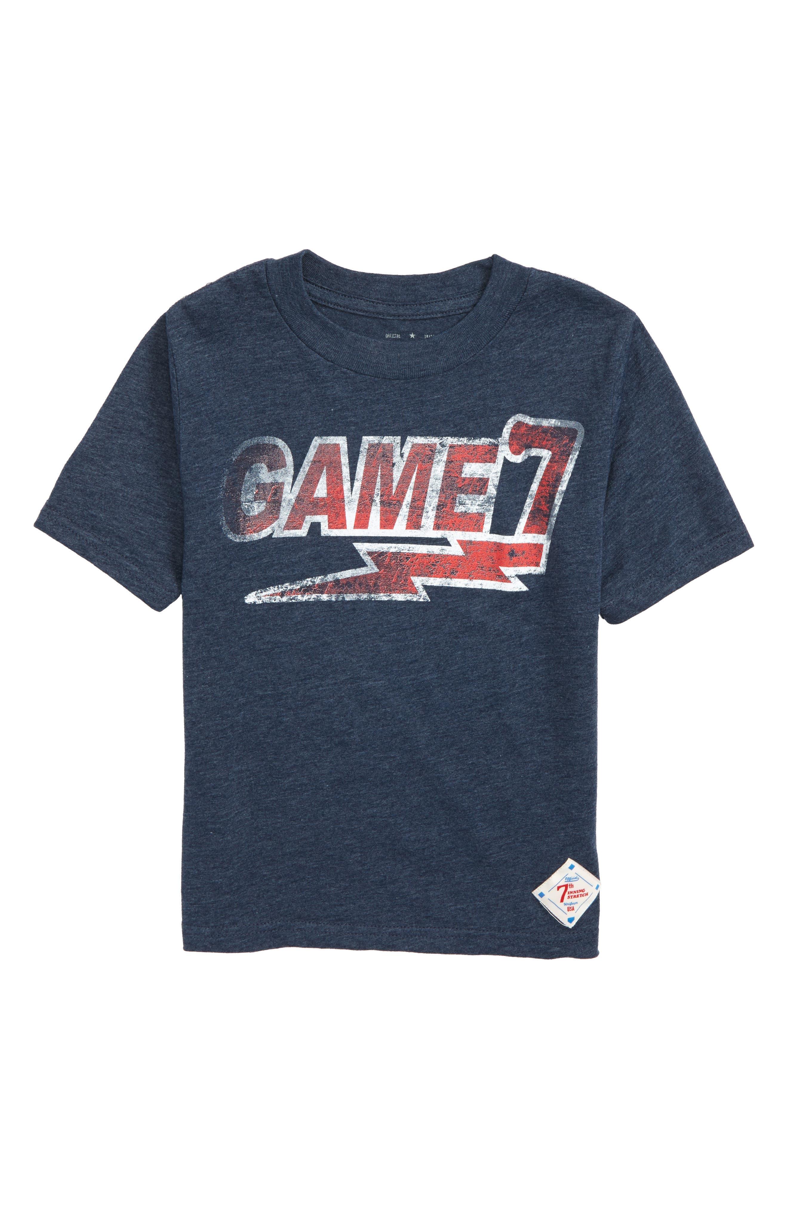 Game 7 Graphic T-Shirt,                             Main thumbnail 1, color,                             Navy