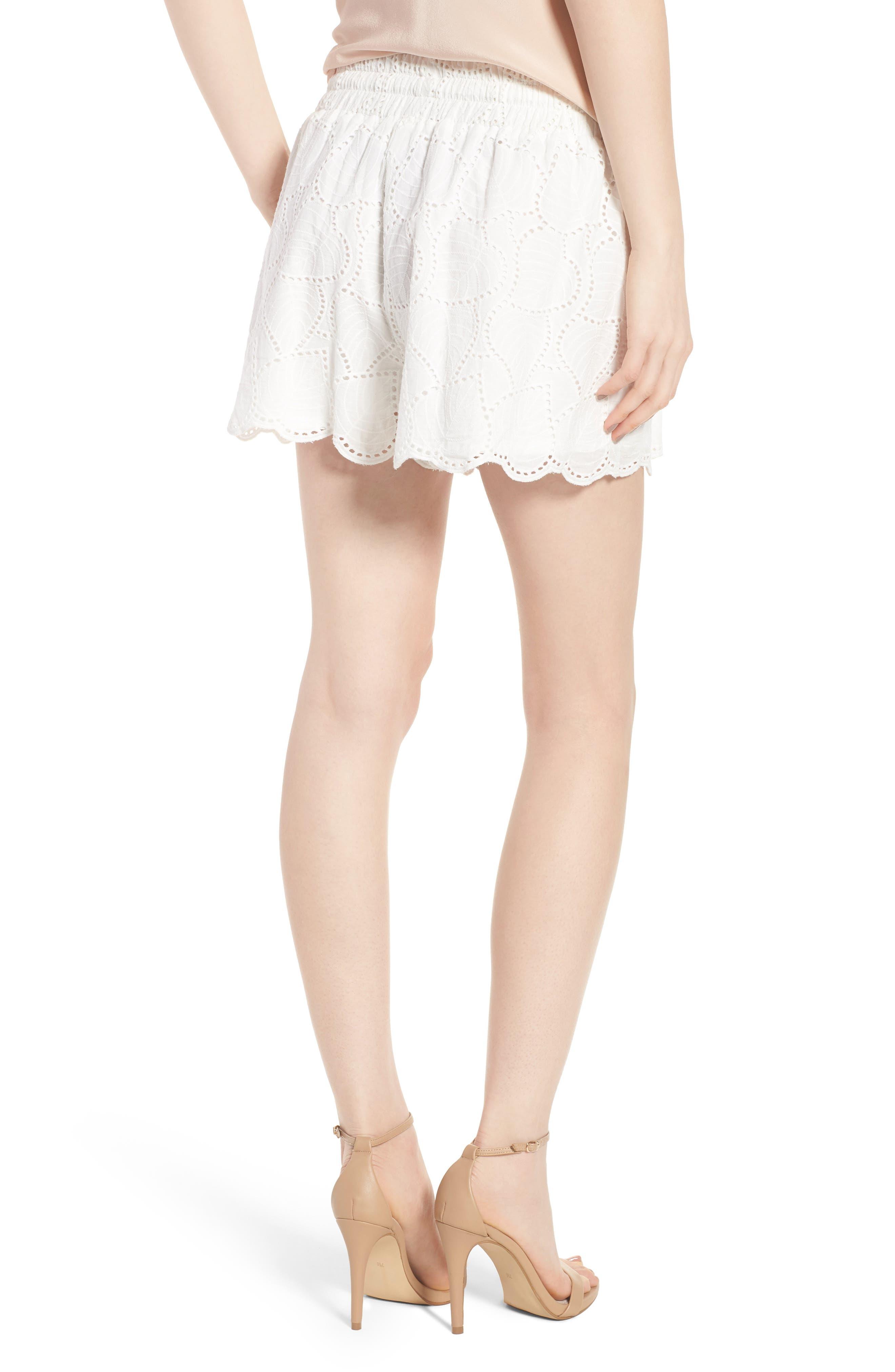 Bishop + Young Eyelet Shorts,                             Alternate thumbnail 2, color,                             White