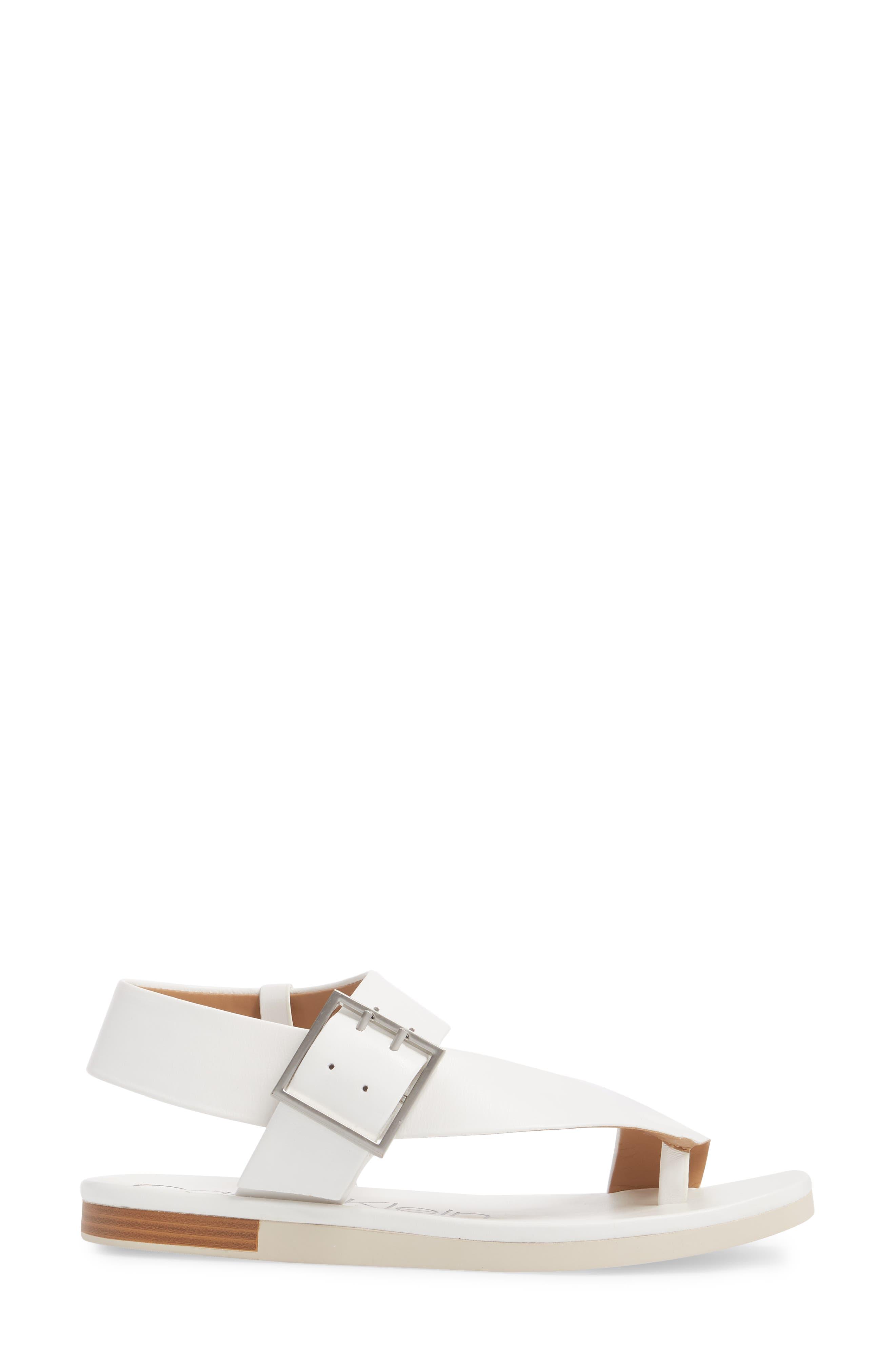 Rivita Sandal,                             Alternate thumbnail 3, color,                             Platinum White Leather
