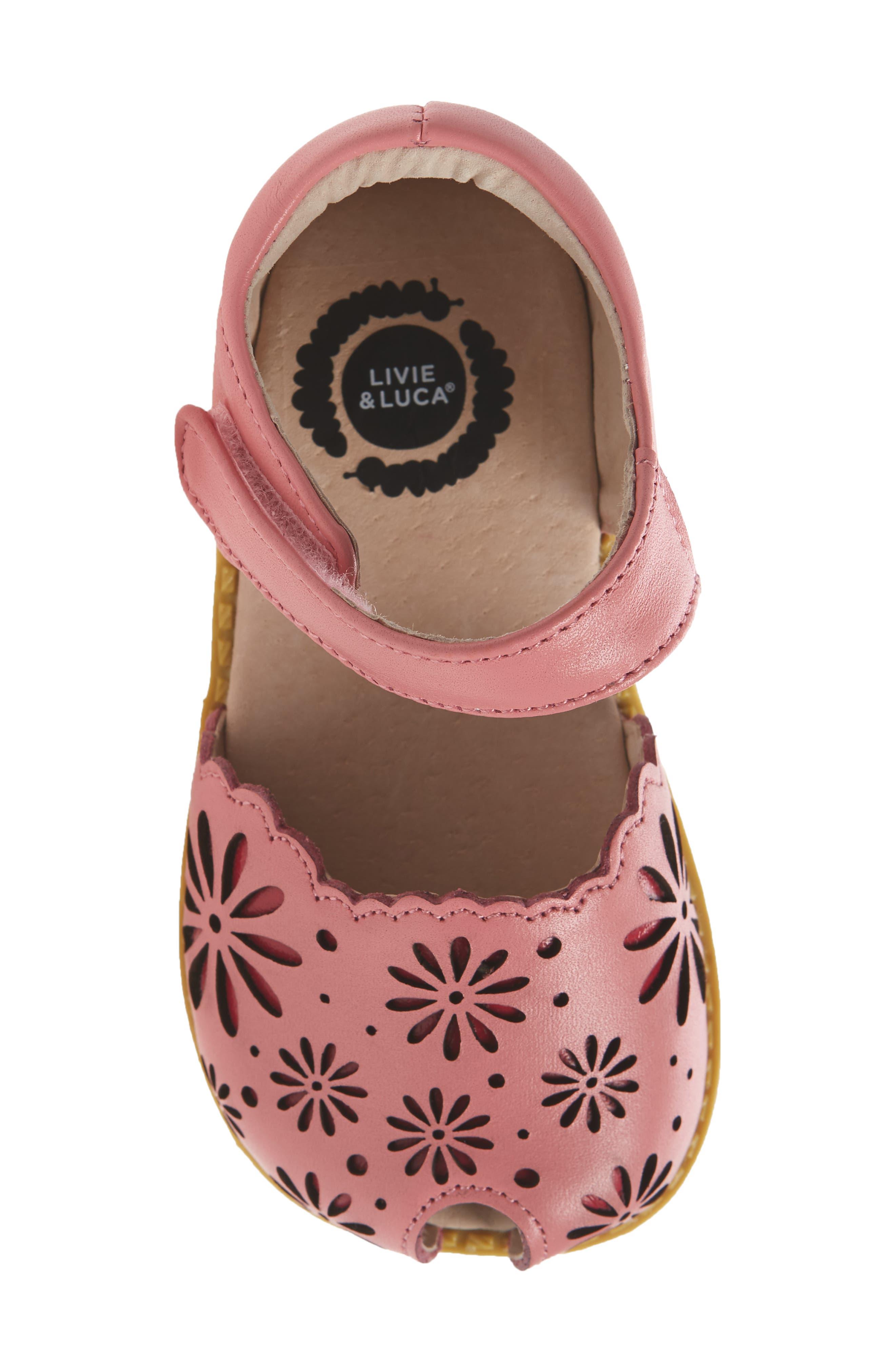 Carmen Glitter Sandal,                             Alternate thumbnail 5, color,                             Rosy Pink