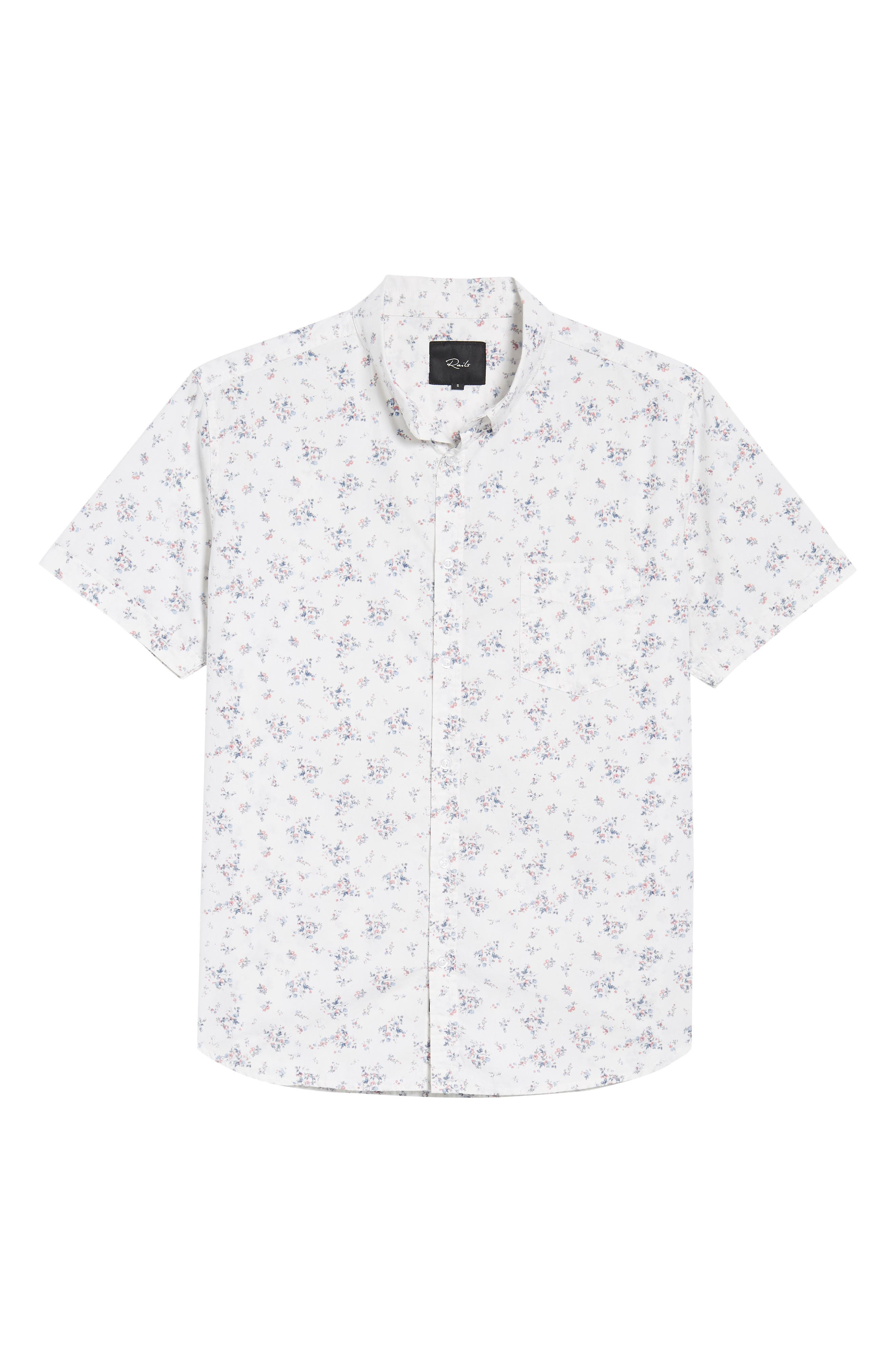 Carson Slim Fit Floral Print Sport Shirt,                             Alternate thumbnail 6, color,                             Mini Floral