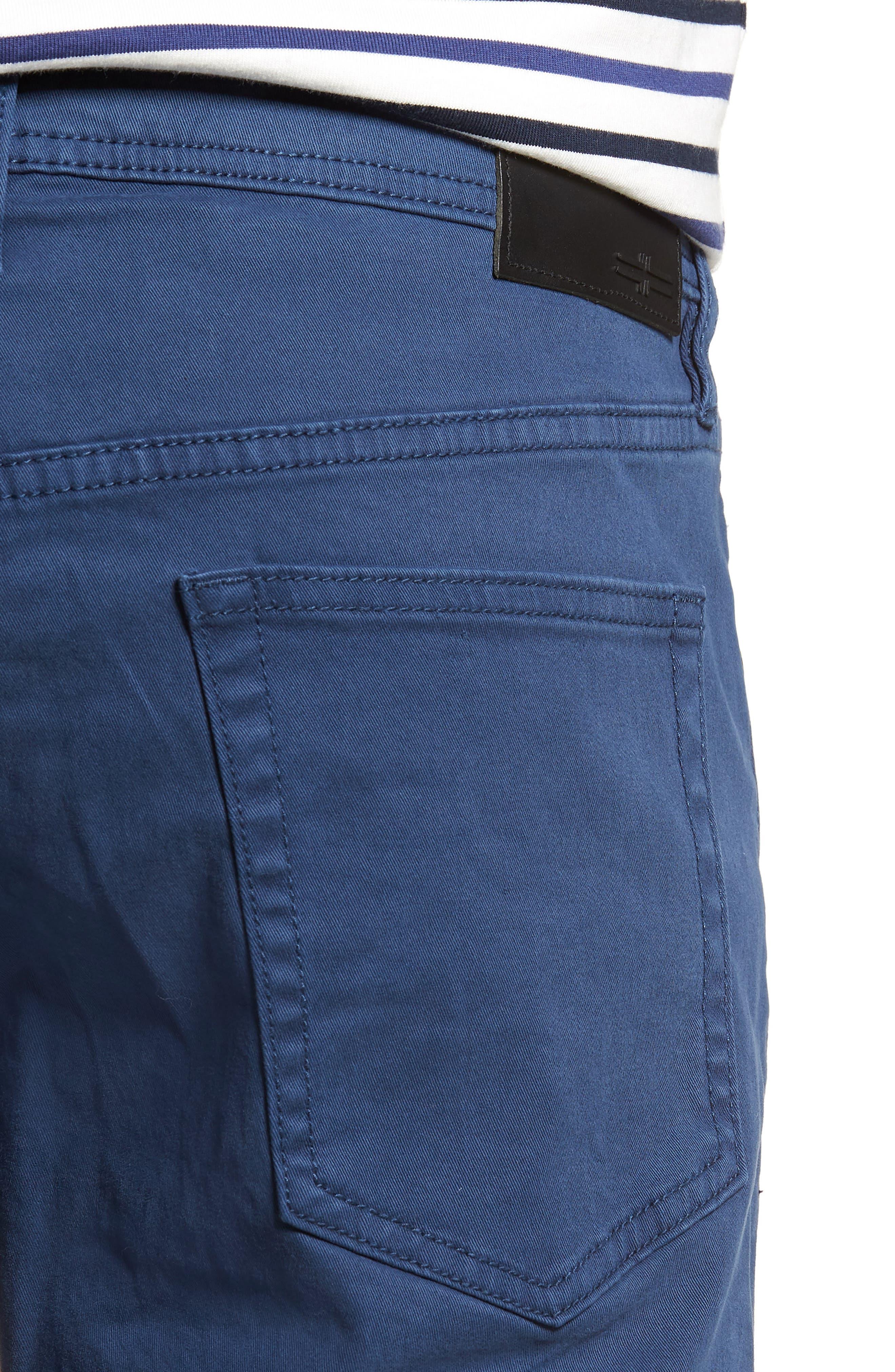 Alternate Image 4  - Liverpool Jeans Co. Kingston Slim Straight Leg Jeans (Blue Twilight)