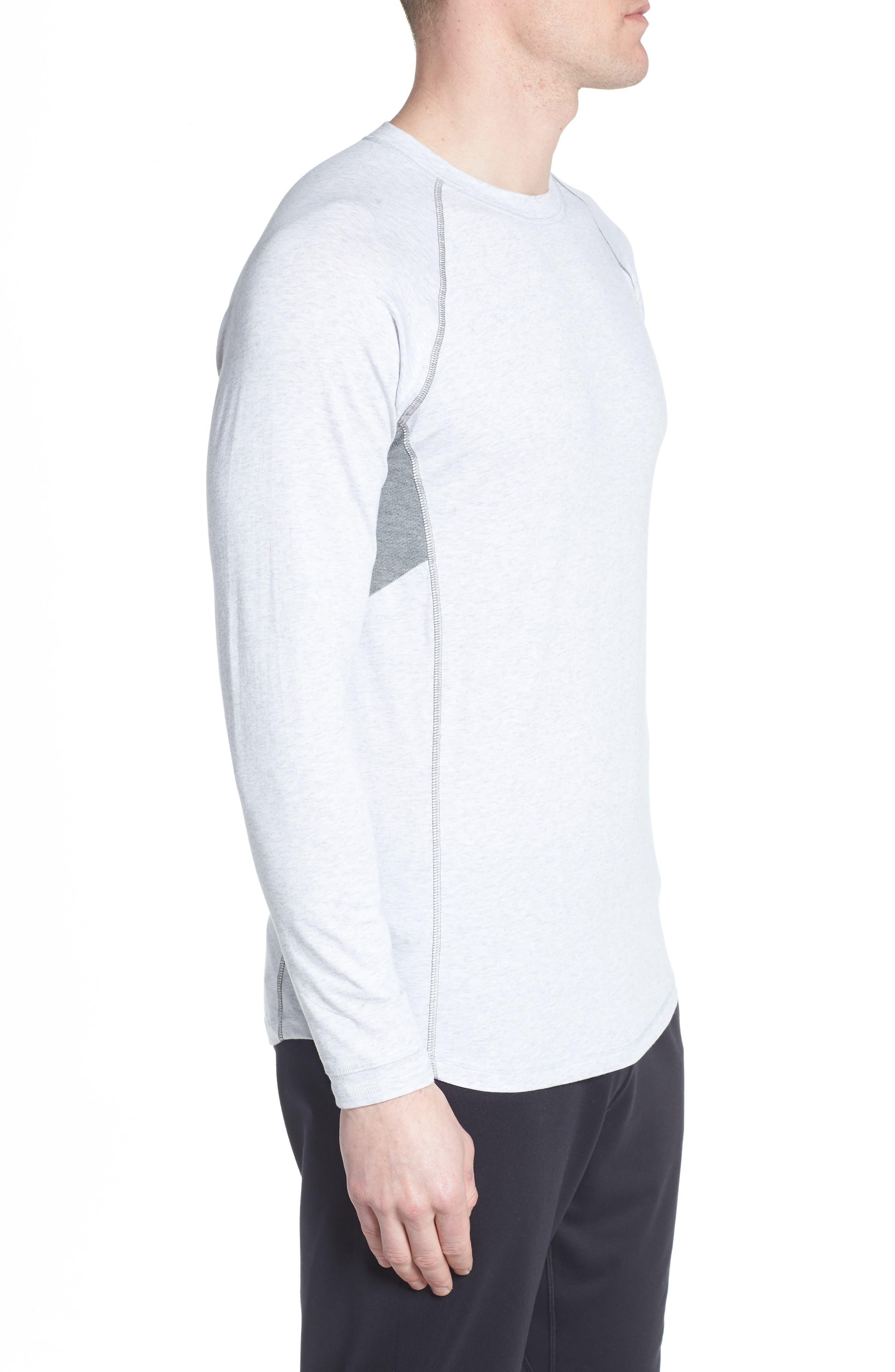 Charge II Long Sleeve Shirt,                             Alternate thumbnail 3, color,                             Light Heather Gray