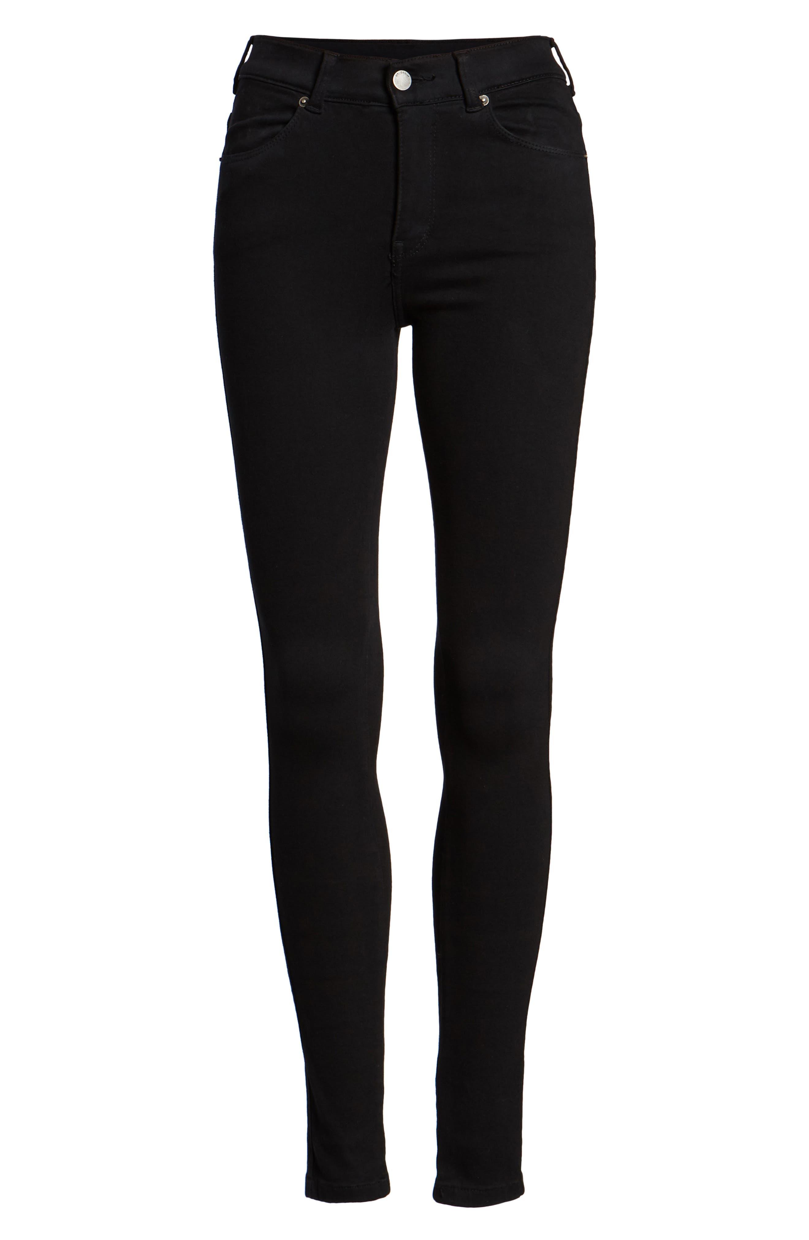 Lexy Skinny Jeans,                             Alternate thumbnail 7, color,                             Black