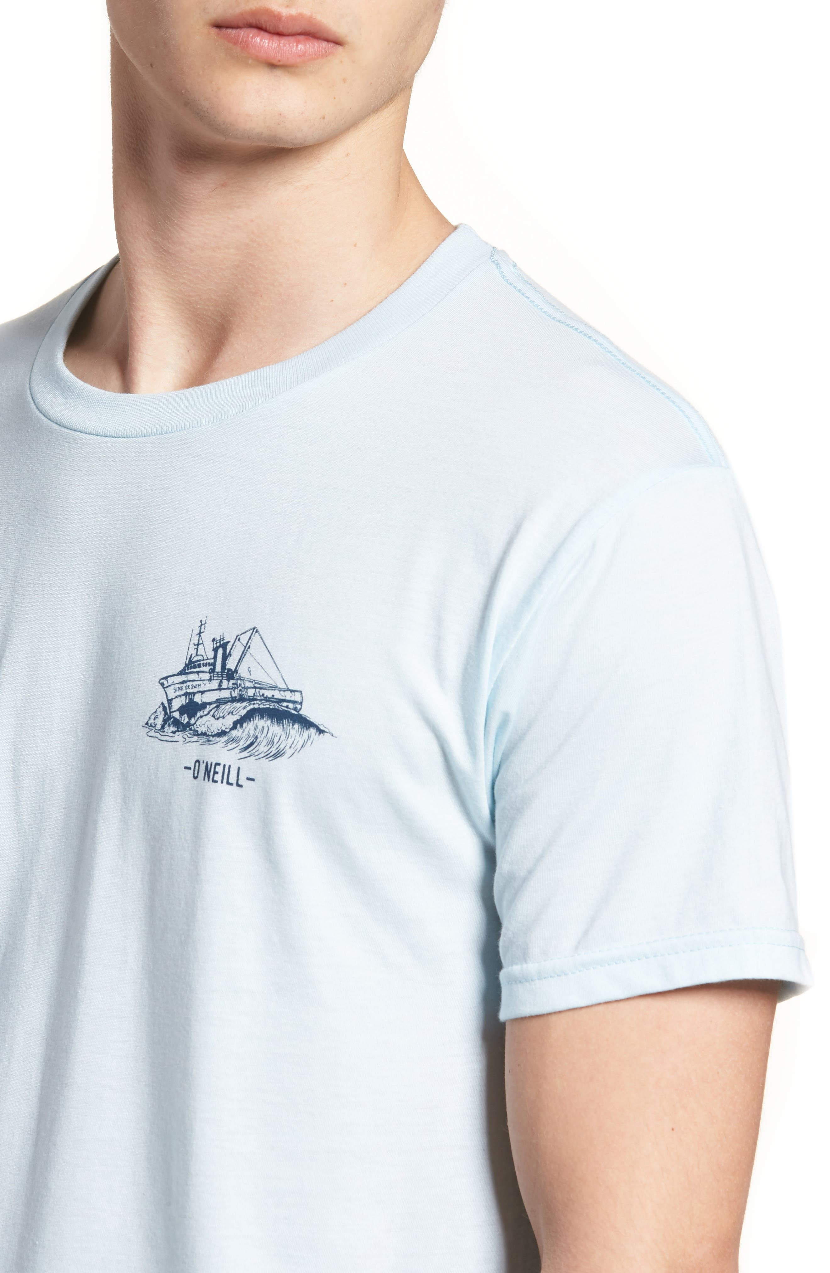 Wrecked Graphic T-Shirt,                             Alternate thumbnail 4, color,                             Light Blue Heather