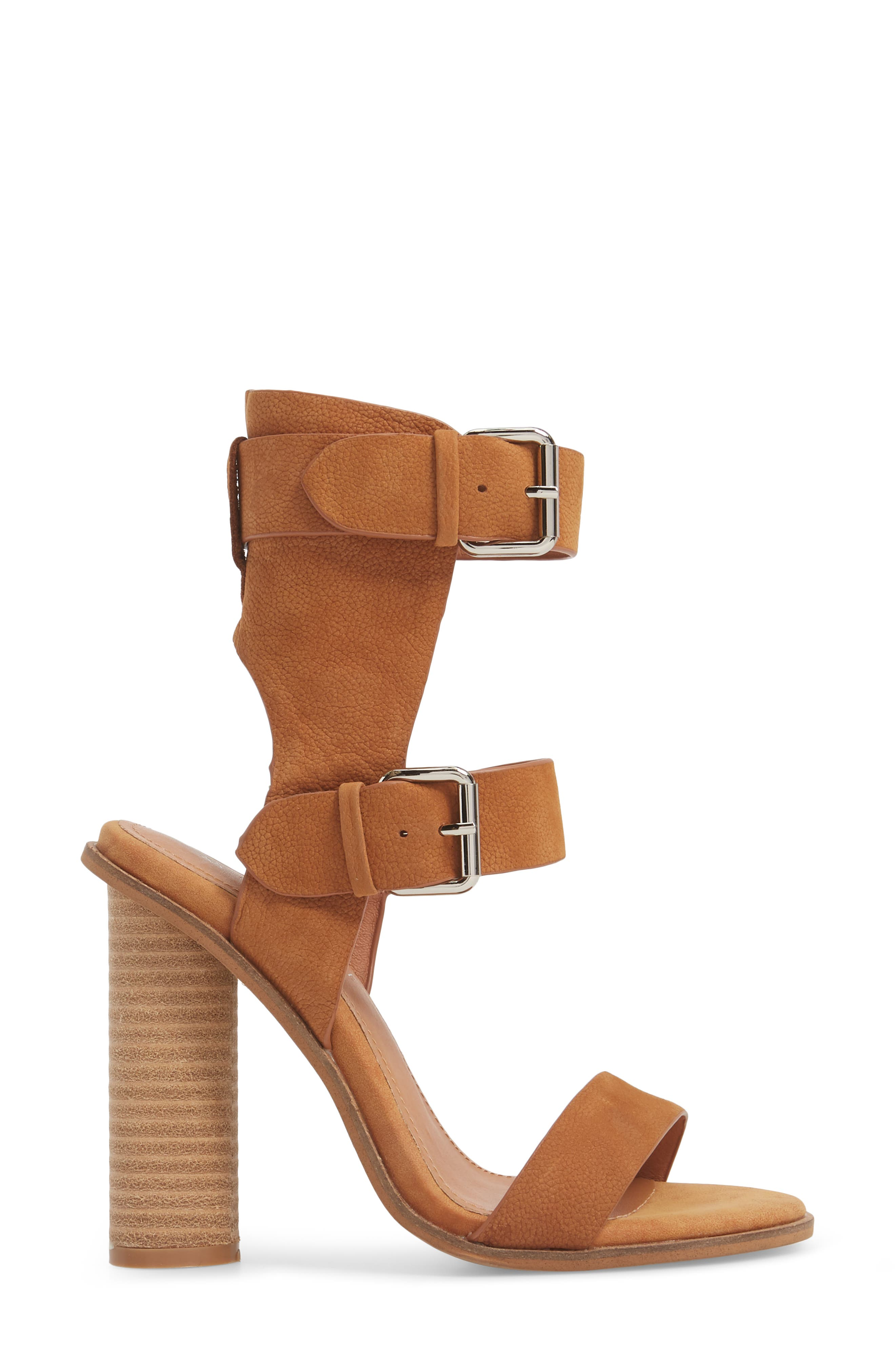 Abeba Block Heel Sandal,                             Alternate thumbnail 3, color,                             Tan Leather
