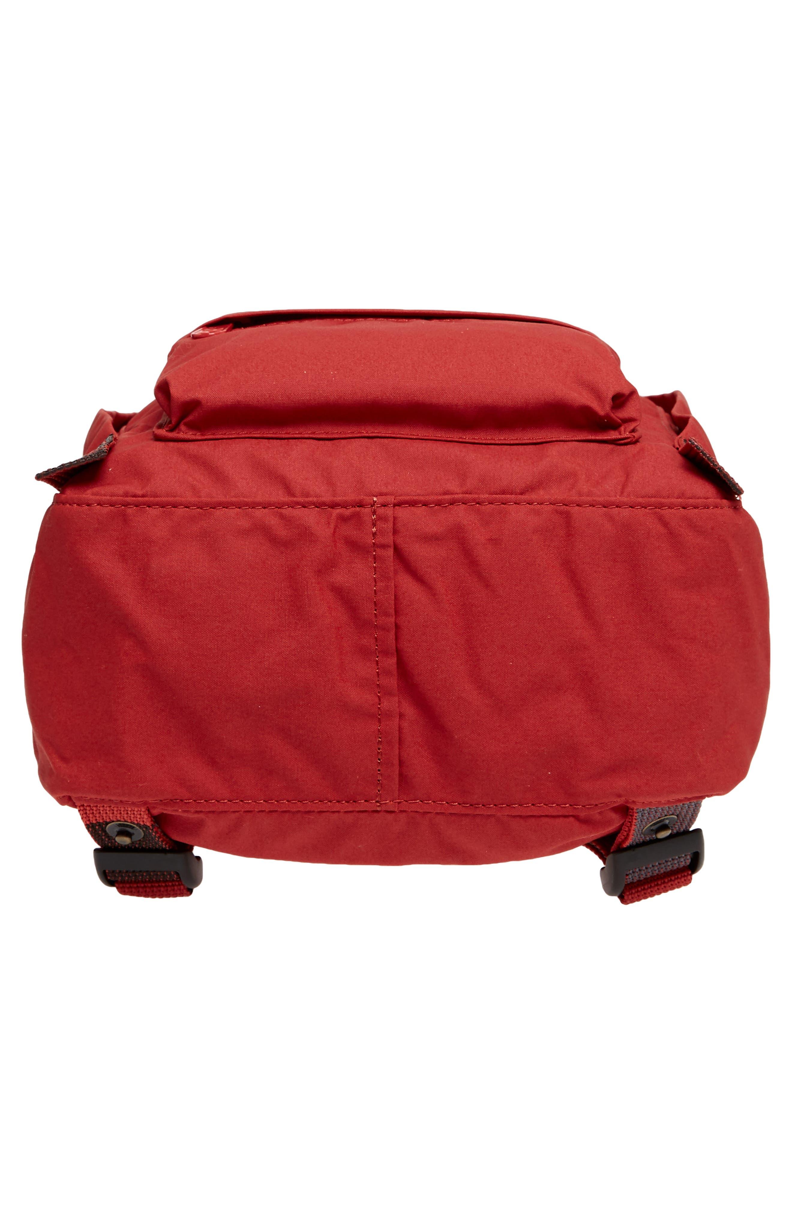 'Mini Kånken' Water Resistant Backpack,                             Alternate thumbnail 5, color,                             Deep Red Blocked