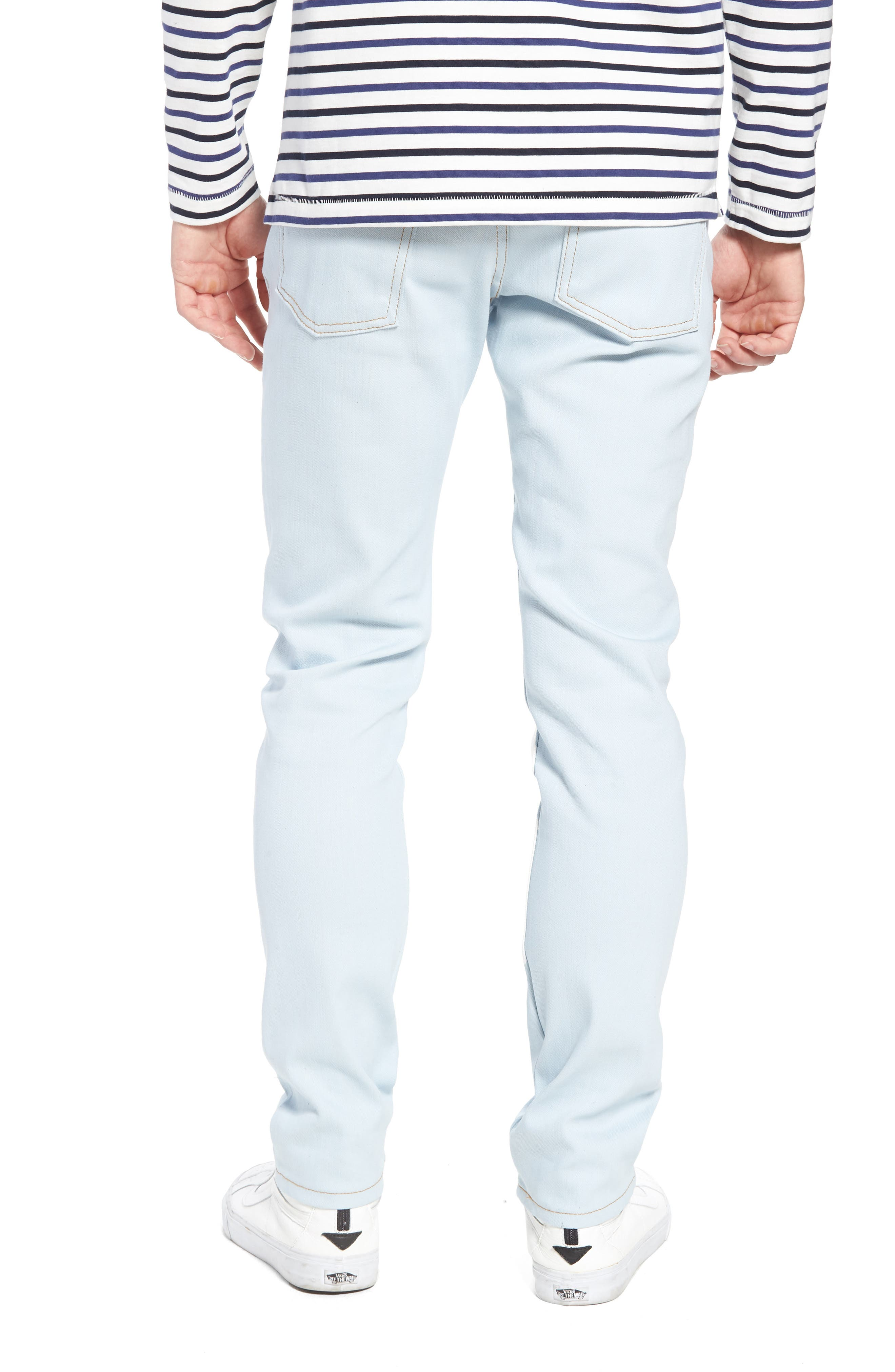 Naked & Famous Super Skinny Guy Skinny Fit Jeans,                             Alternate thumbnail 2, color,                             Powder Blue