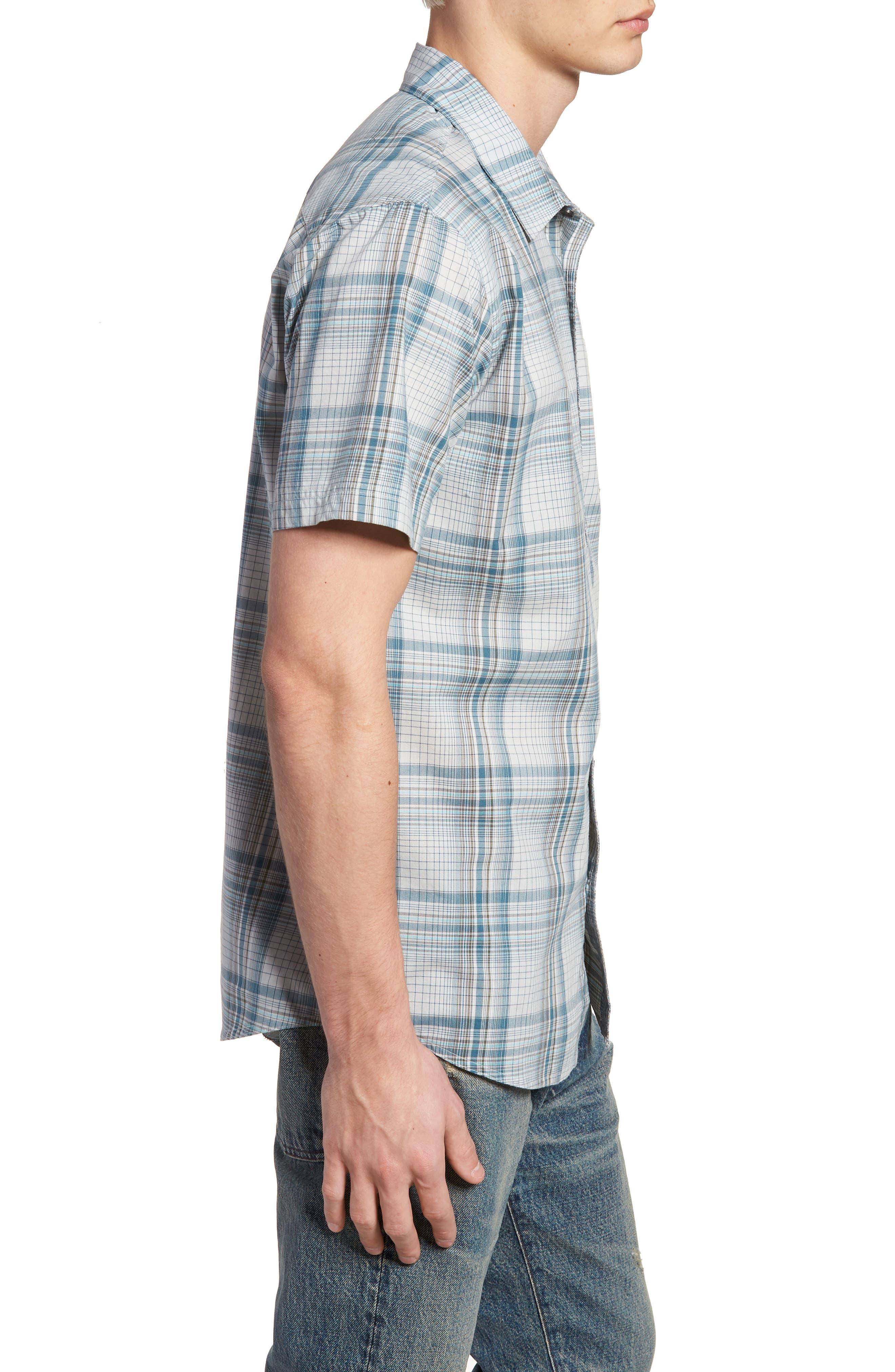 Gentry Short Sleeve Shirt,                             Alternate thumbnail 4, color,                             White