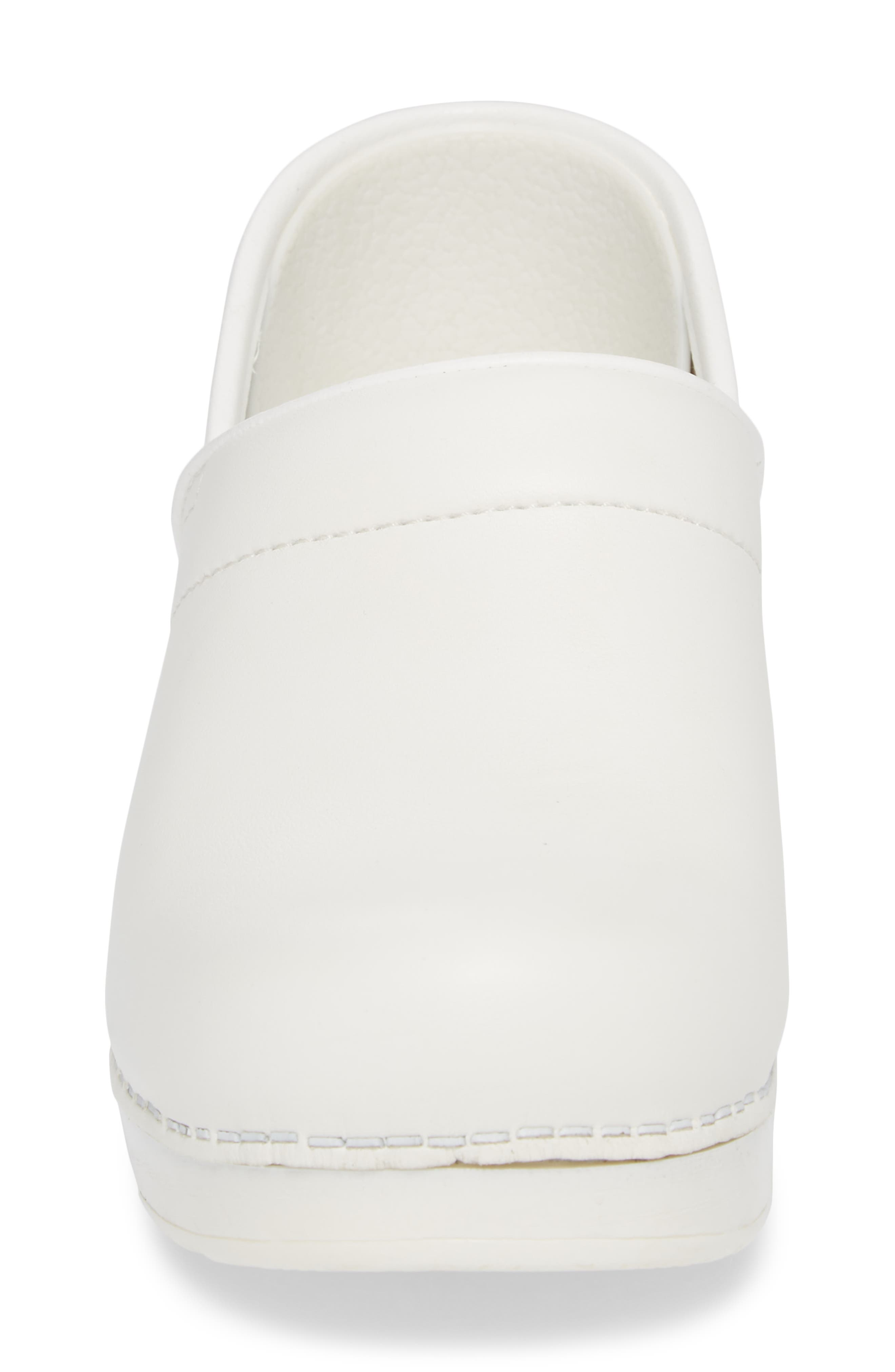 Wide Pro Clog,                             Alternate thumbnail 4, color,                             White Leather