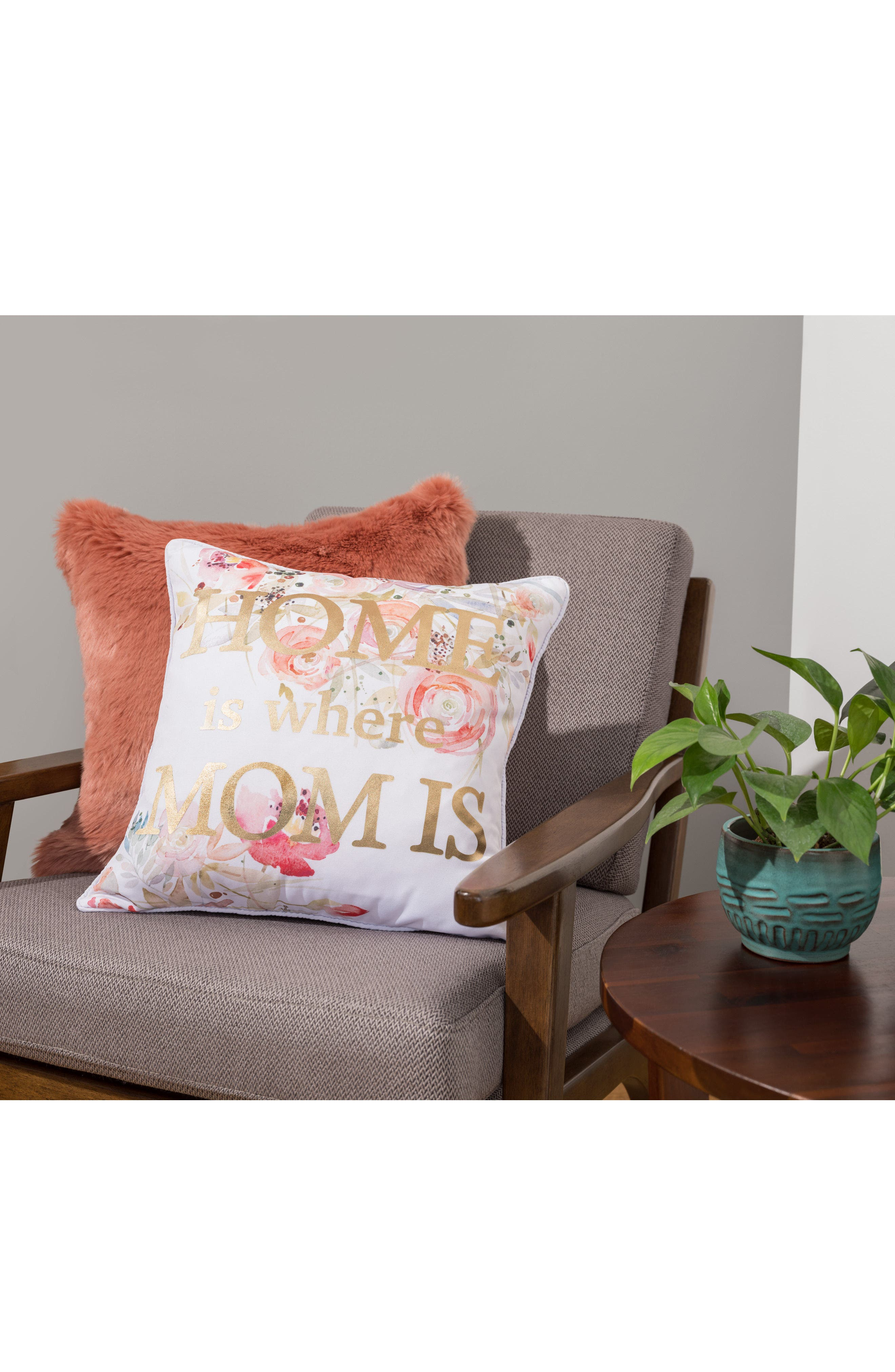 Home Is Where Mom Is Accent Pillow,                             Alternate thumbnail 4, color,