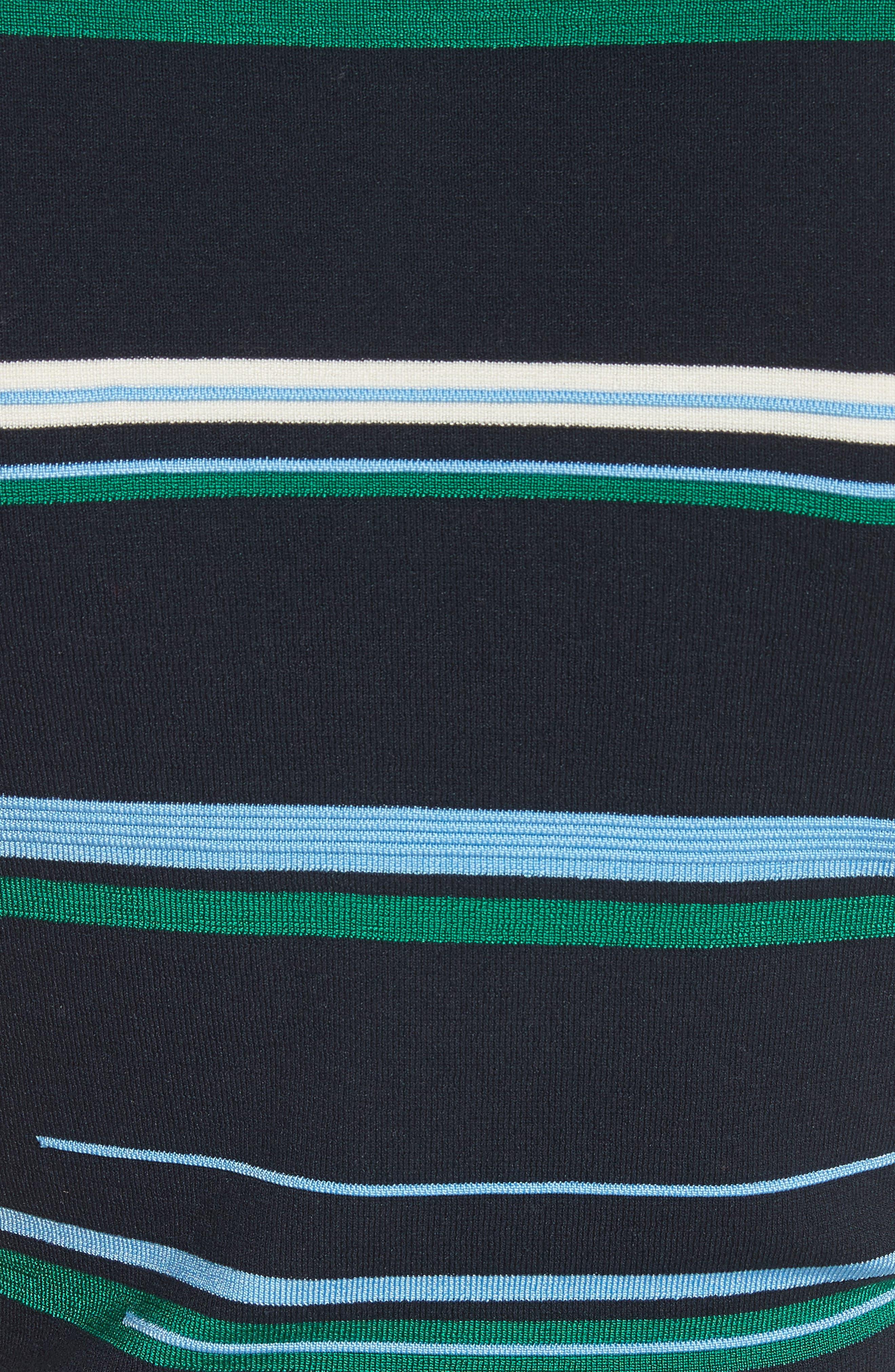 Stripe Knit Top,                             Alternate thumbnail 5, color,                             Midnight Multi
