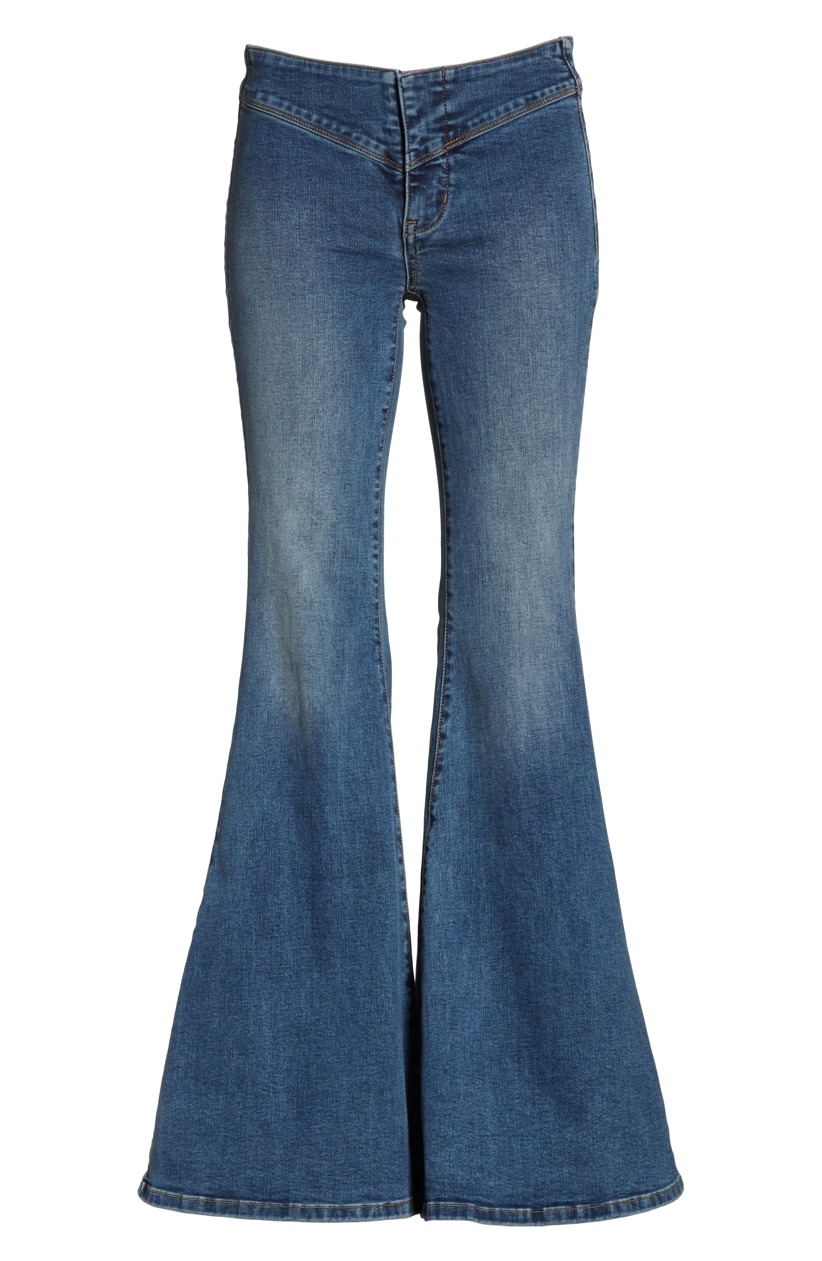 Flare Jeans,                             Alternate thumbnail 6, color,                             Blue