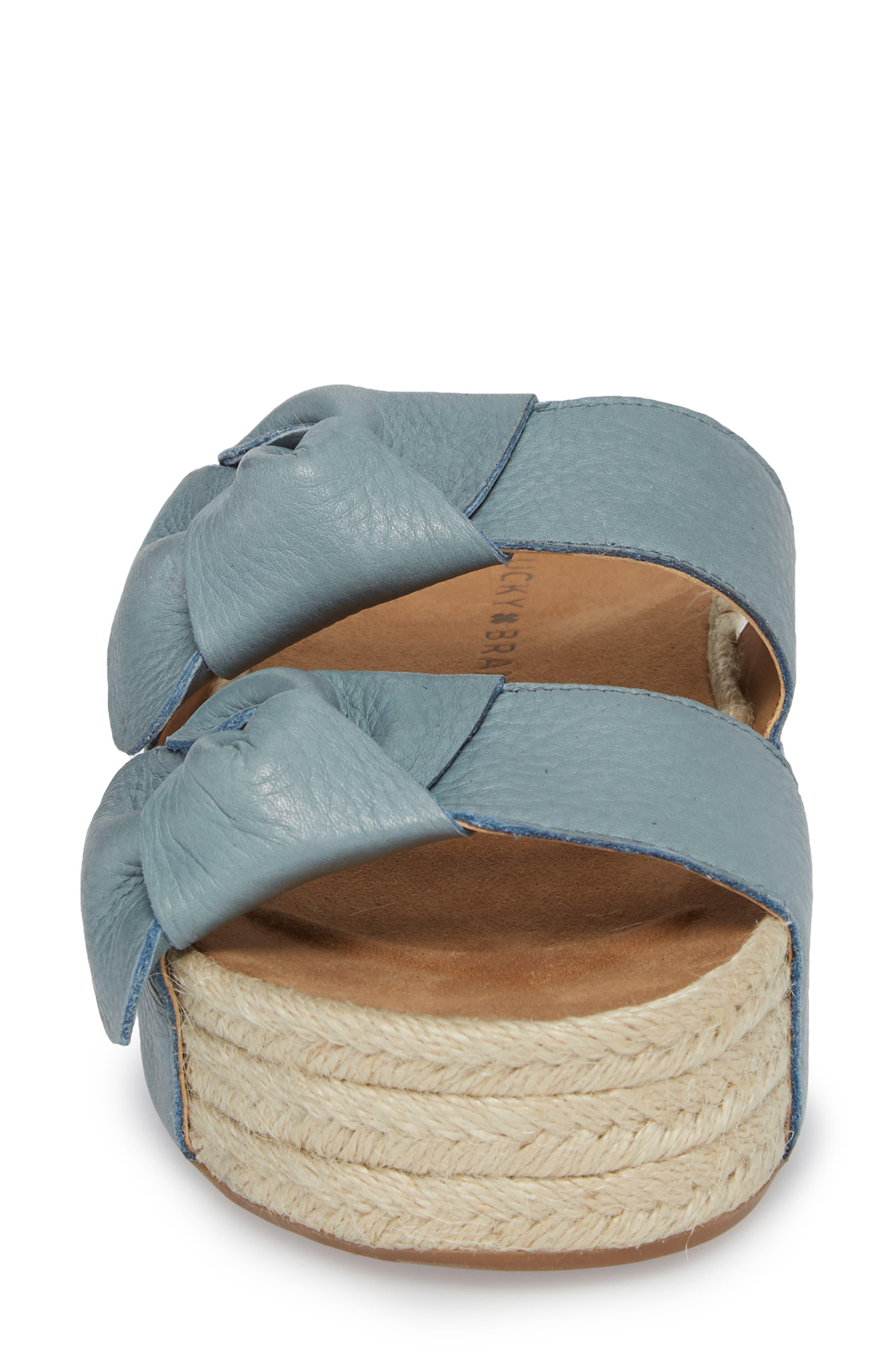Izbremma Platform Espadrille Sandal,                             Alternate thumbnail 4, color,                             Infinity Leather