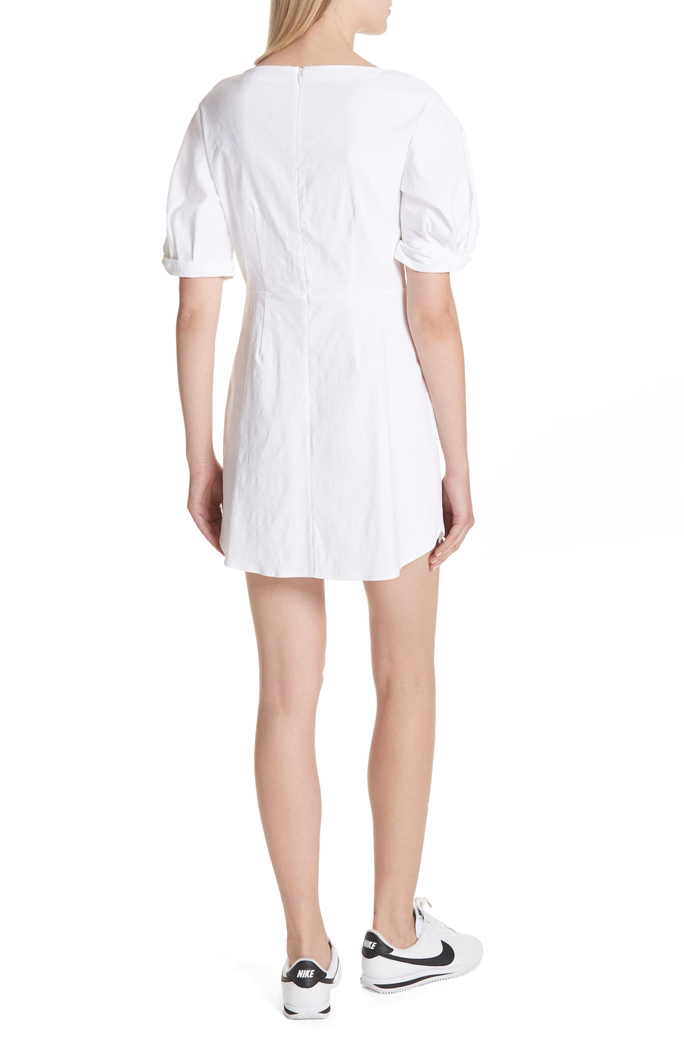 Mirren Twist Front Linen Blend Dress,                             Alternate thumbnail 2, color,                             Gesso
