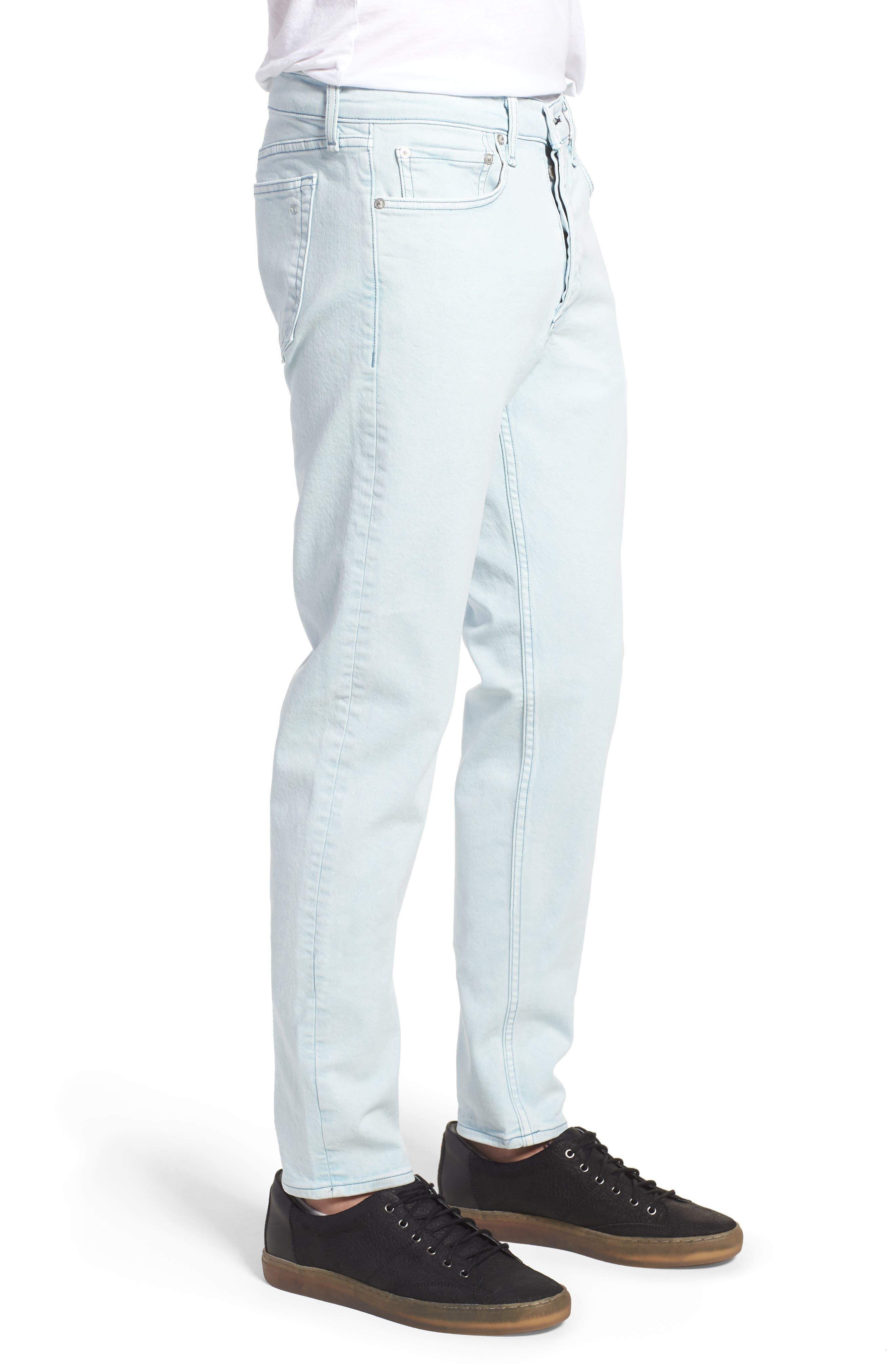 Fit 2 Slim Fit Jeans,                             Alternate thumbnail 3, color,                             Light Blue Pigment