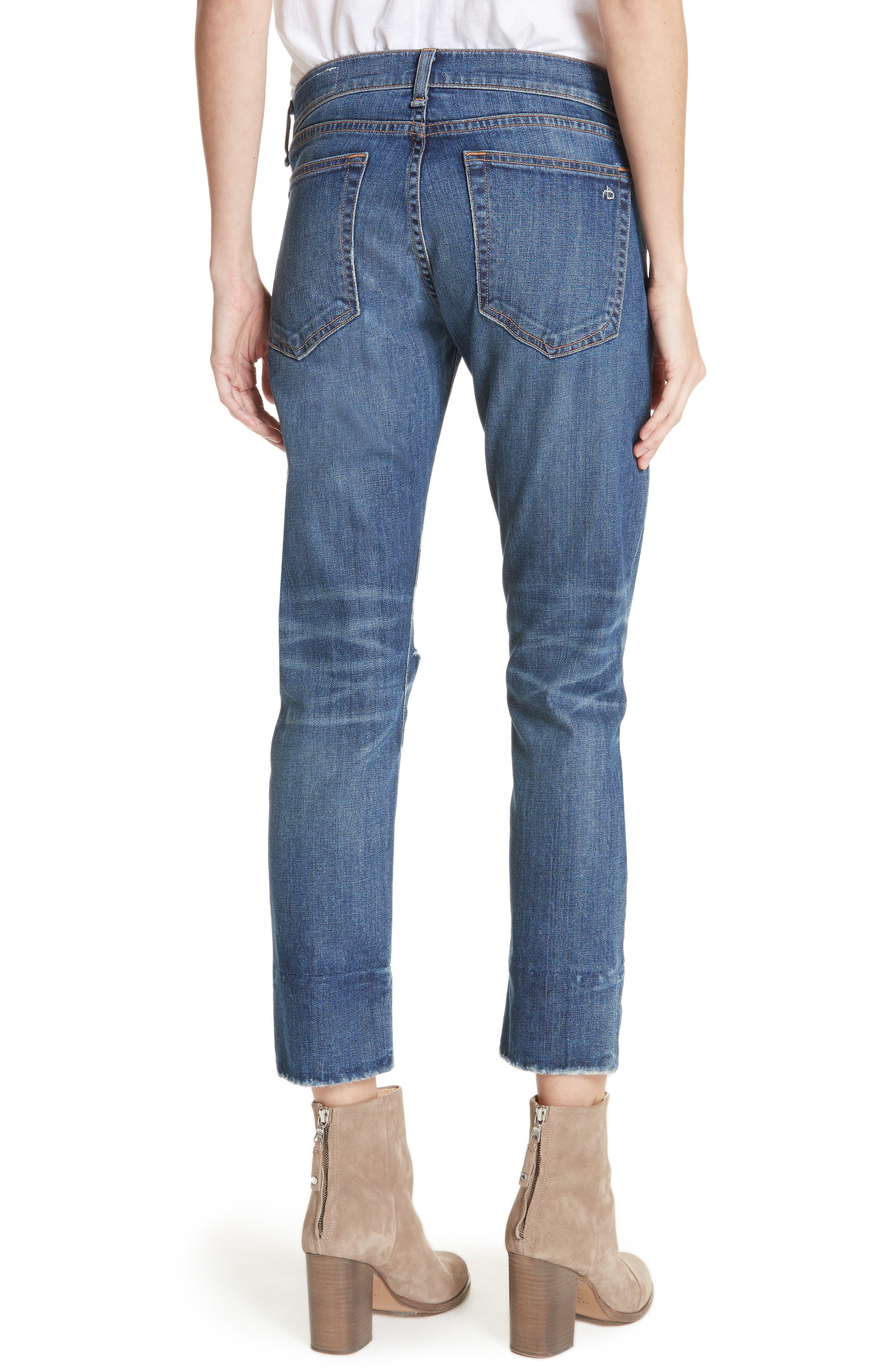 Alternate Image 2  - rag & bone/JEAN Dre Ankle Slim Boyfriend Jeans (Deville)