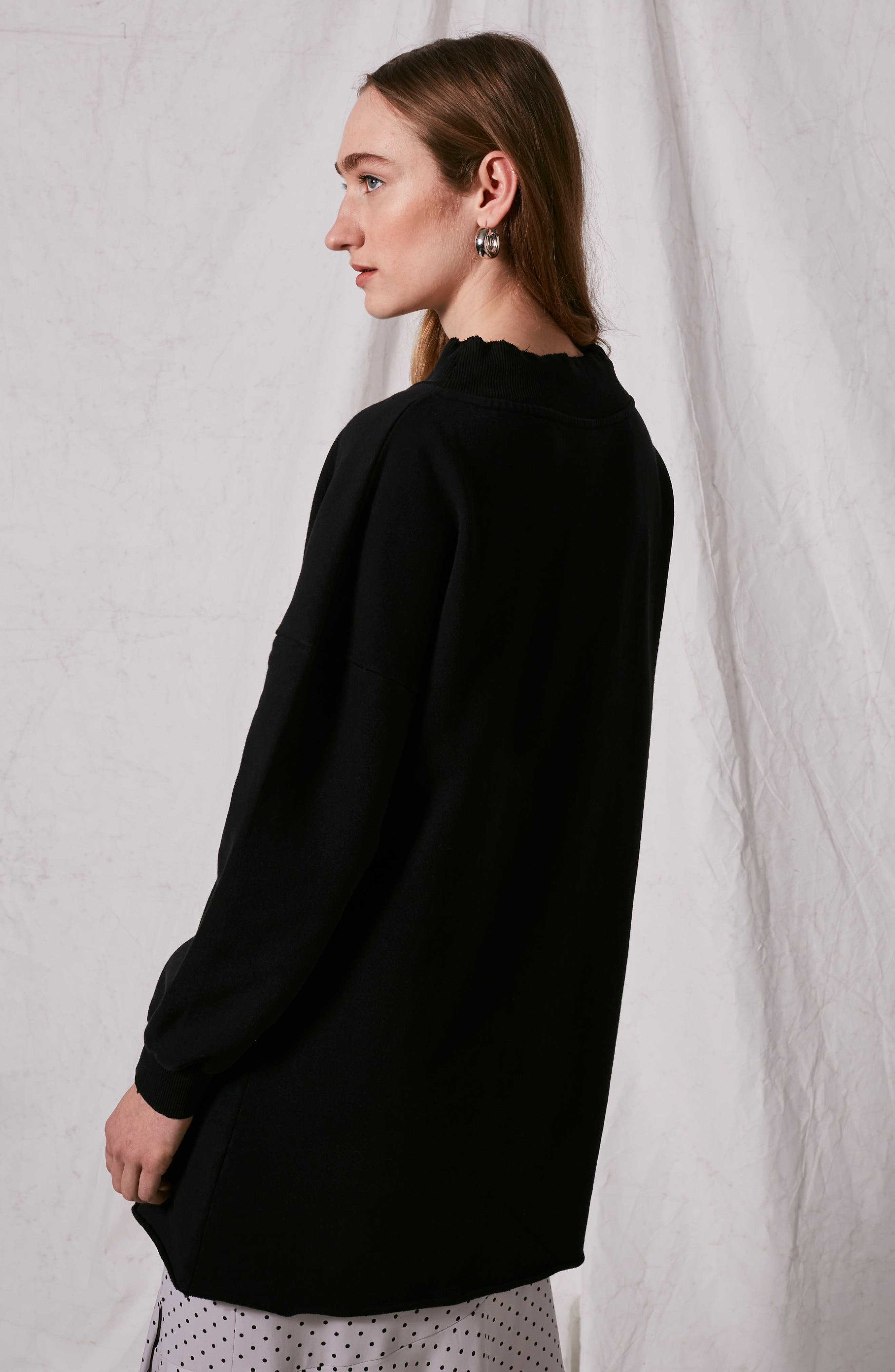 Alternate Image 4  - Topshop Boutique Drawstring Sweater Dress