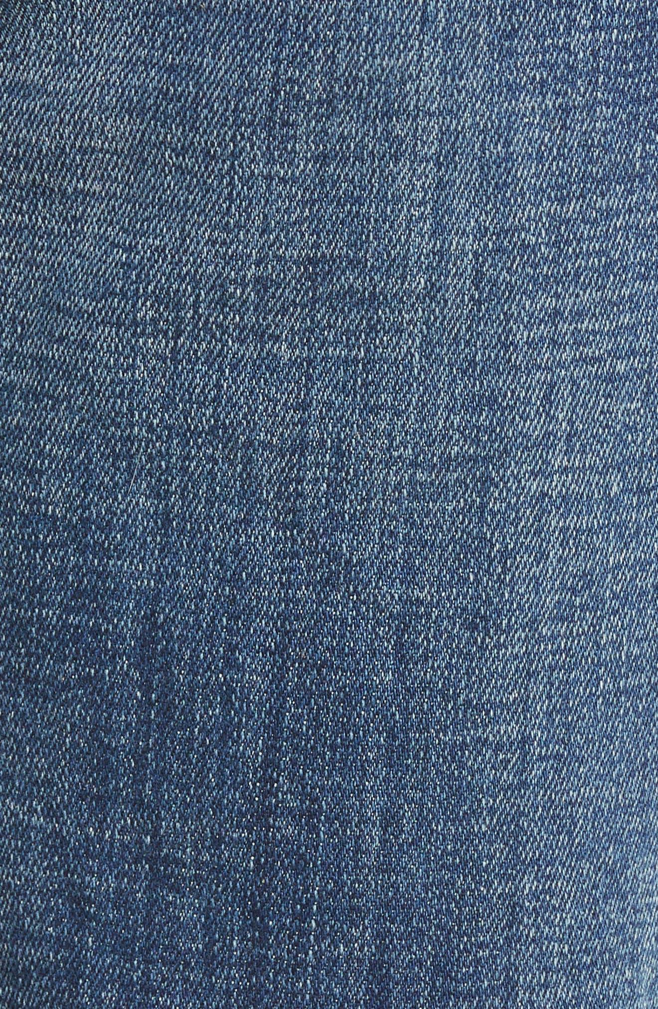 Halle Mid Rise Super Skinny Jeans,                             Alternate thumbnail 6, color,                             Esqm Gen Y