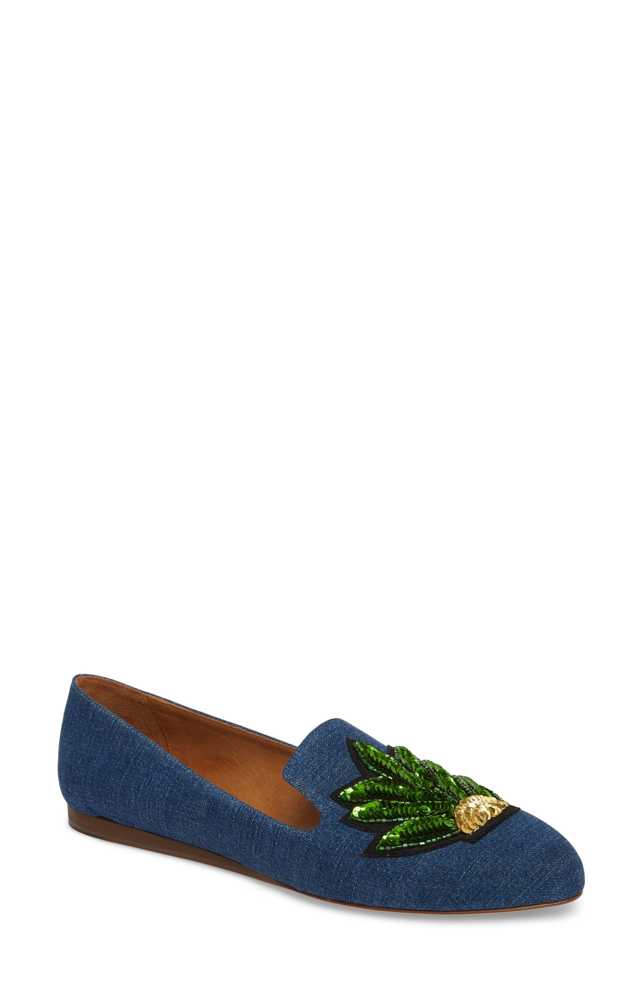 Griffin Pointy Toe Loafer,                         Main,                         color, Chambray