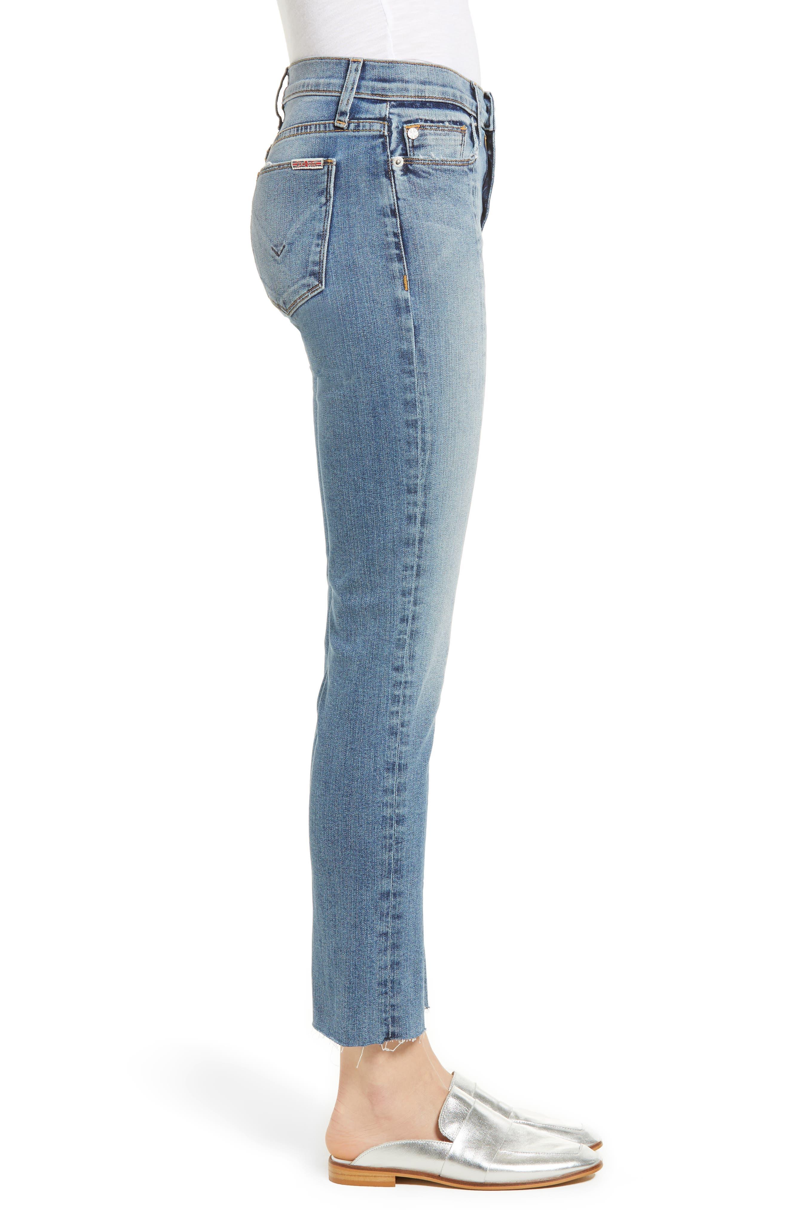 Nico Slit Hem Ankle Straight Leg Jeans,                             Alternate thumbnail 3, color,                             Moxie