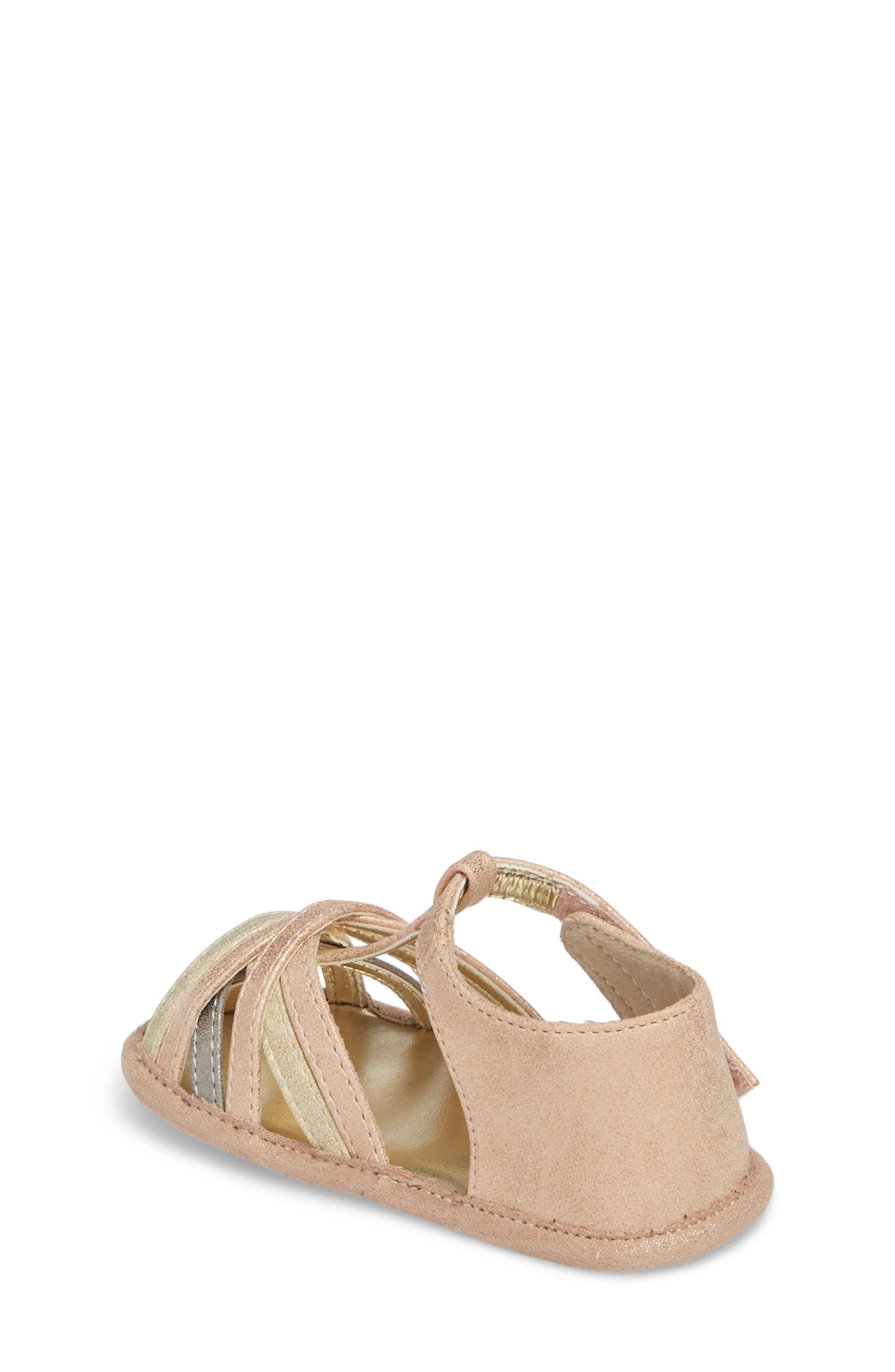 Wisp Metallic Sandal,                             Alternate thumbnail 2, color,                             Rose Gold