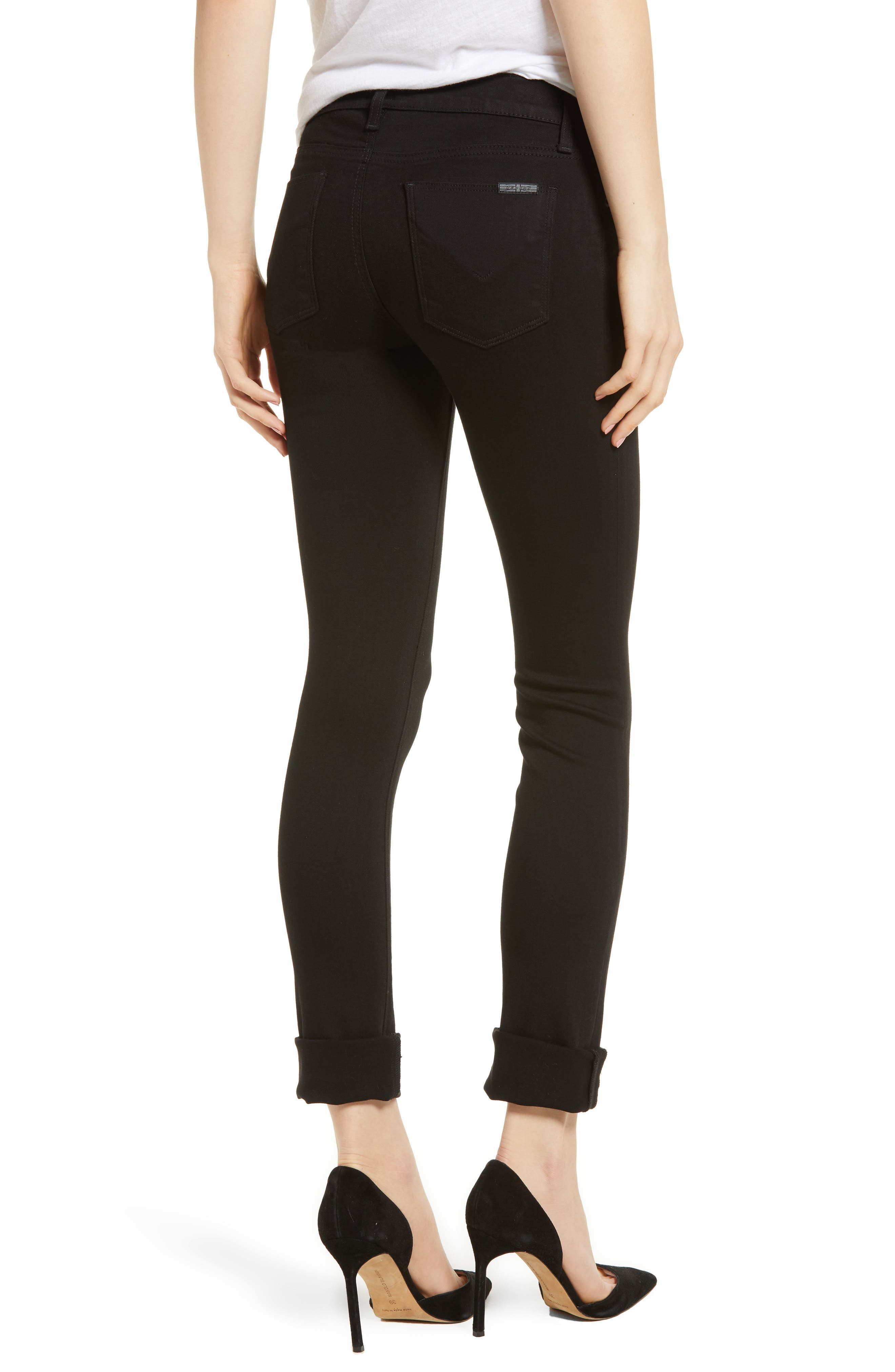 Tally Crop Skinny Jeans,                             Alternate thumbnail 2, color,                             Black