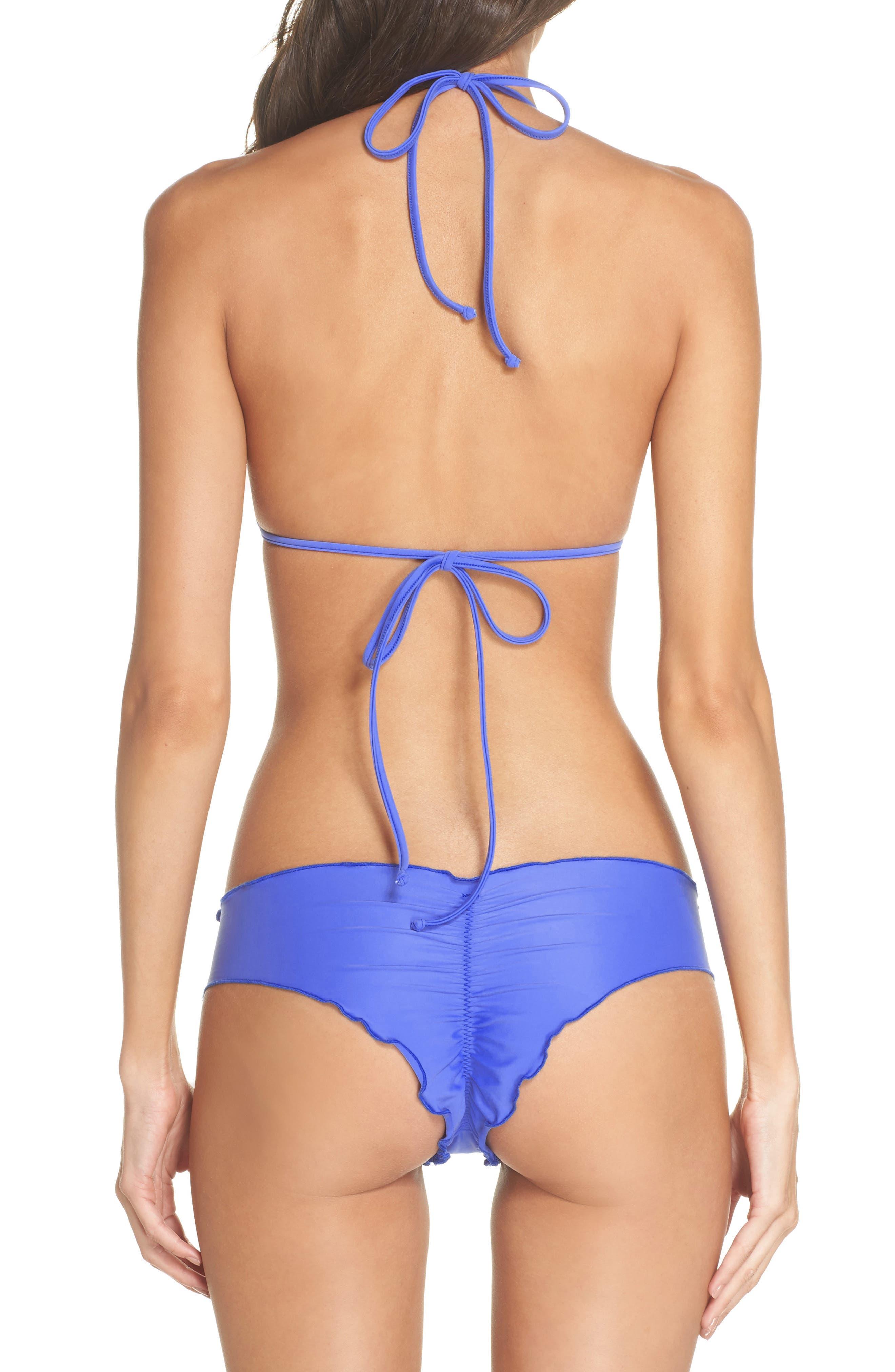 'Wavy' Brazilian Bikini Bottoms,                             Alternate thumbnail 6, color,                             Cascade