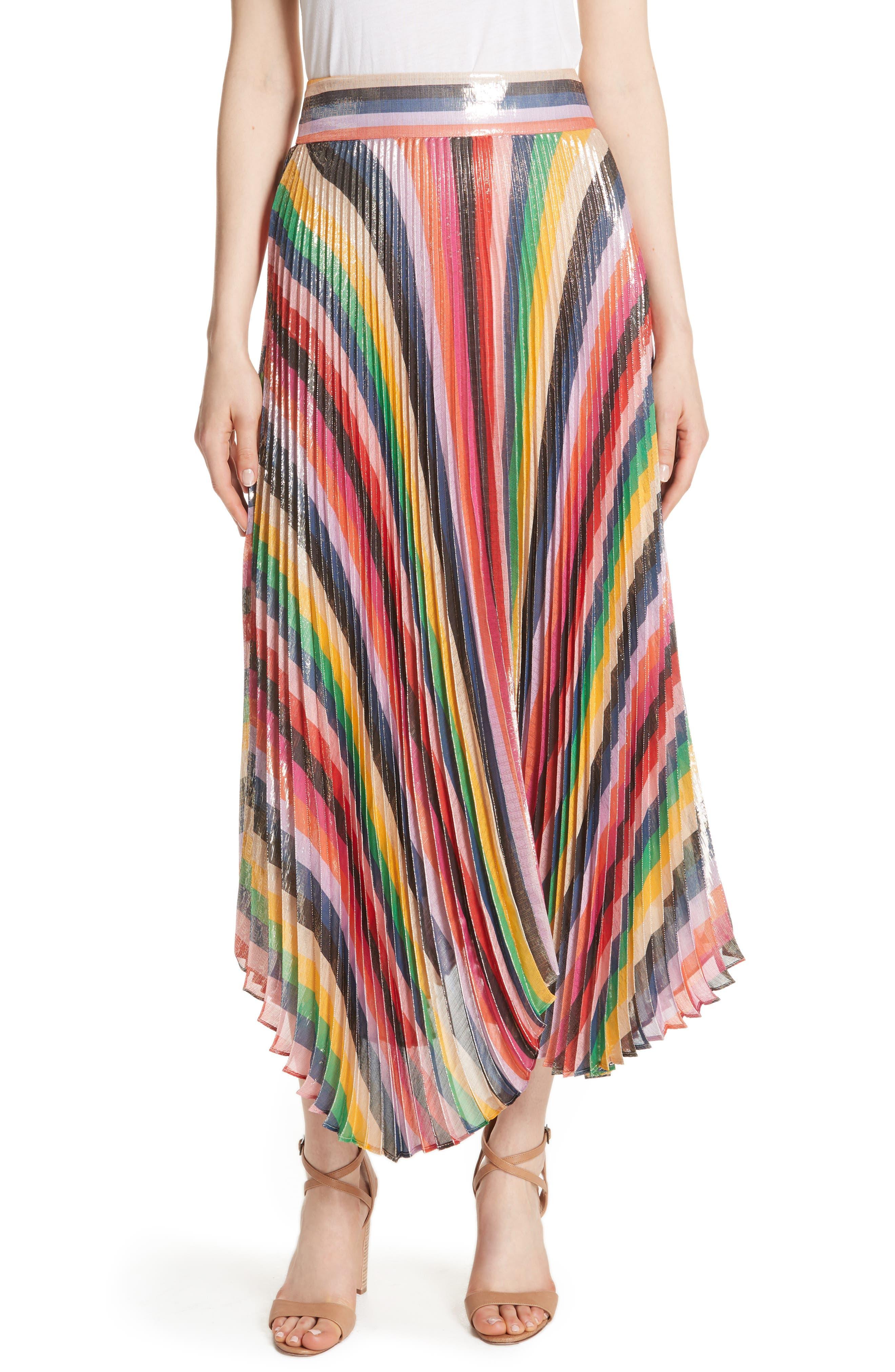 Katz Sunburst Pleated Maxi Skirt,                             Main thumbnail 1, color,                             Multi