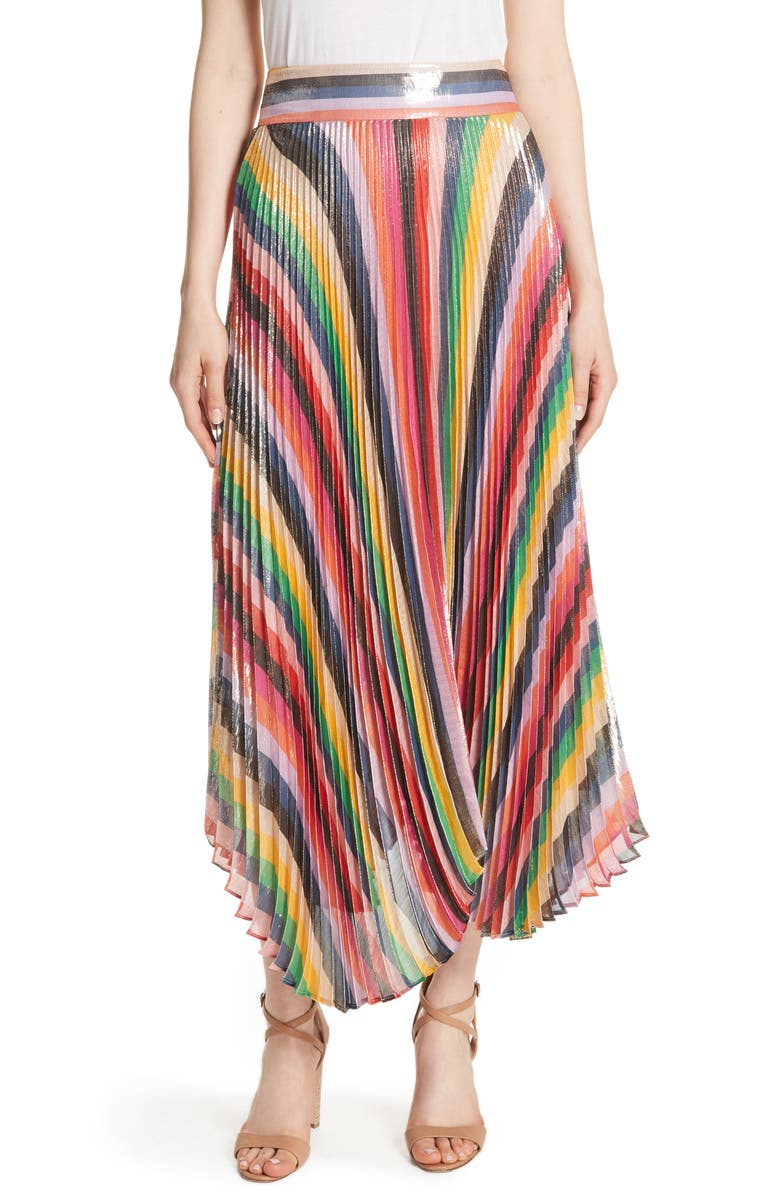 Katz Sunburst Pleated Maxi Skirt