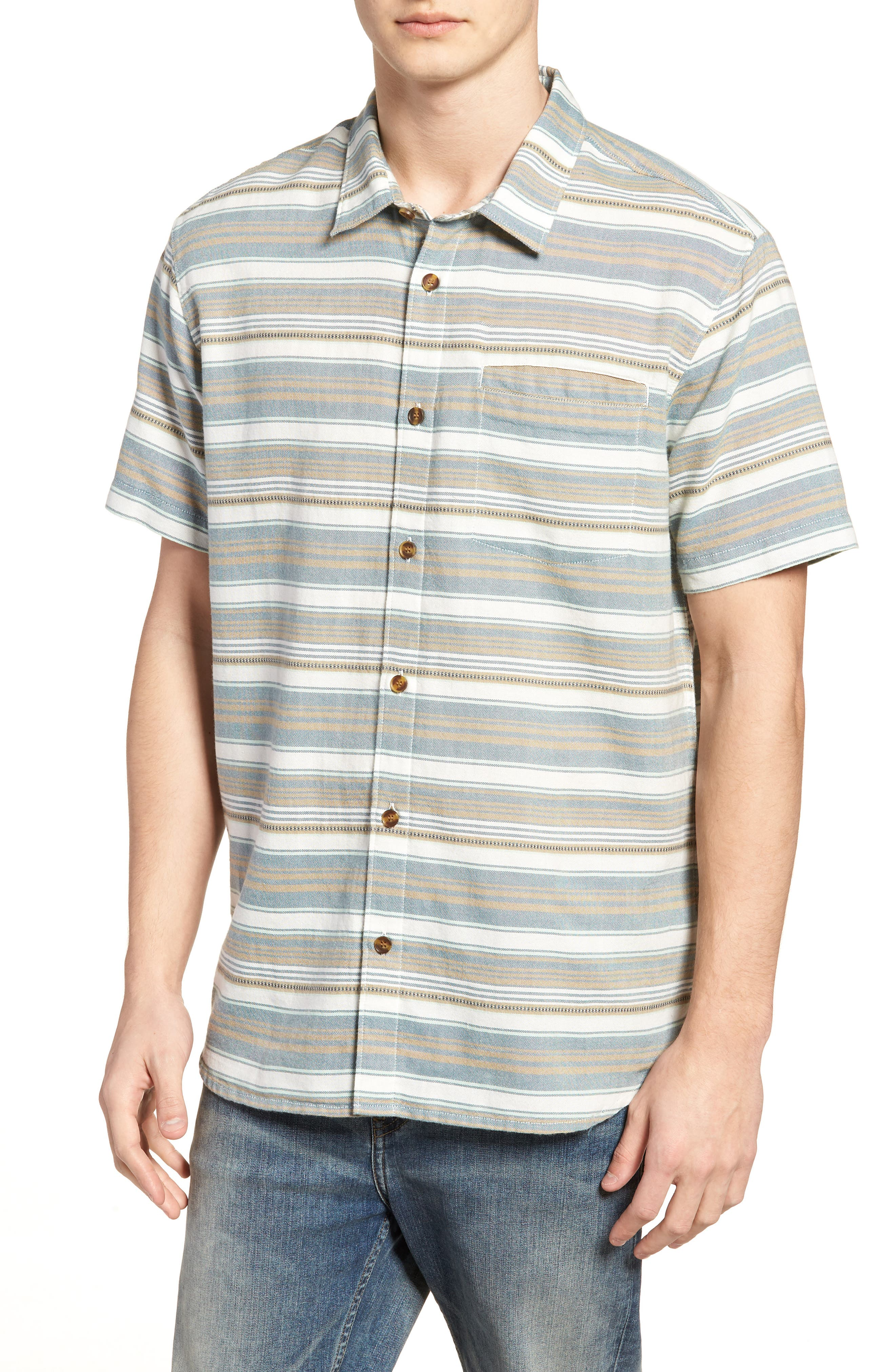 Currington Short Sleeve Shirt,                             Main thumbnail 1, color,                             Khaki