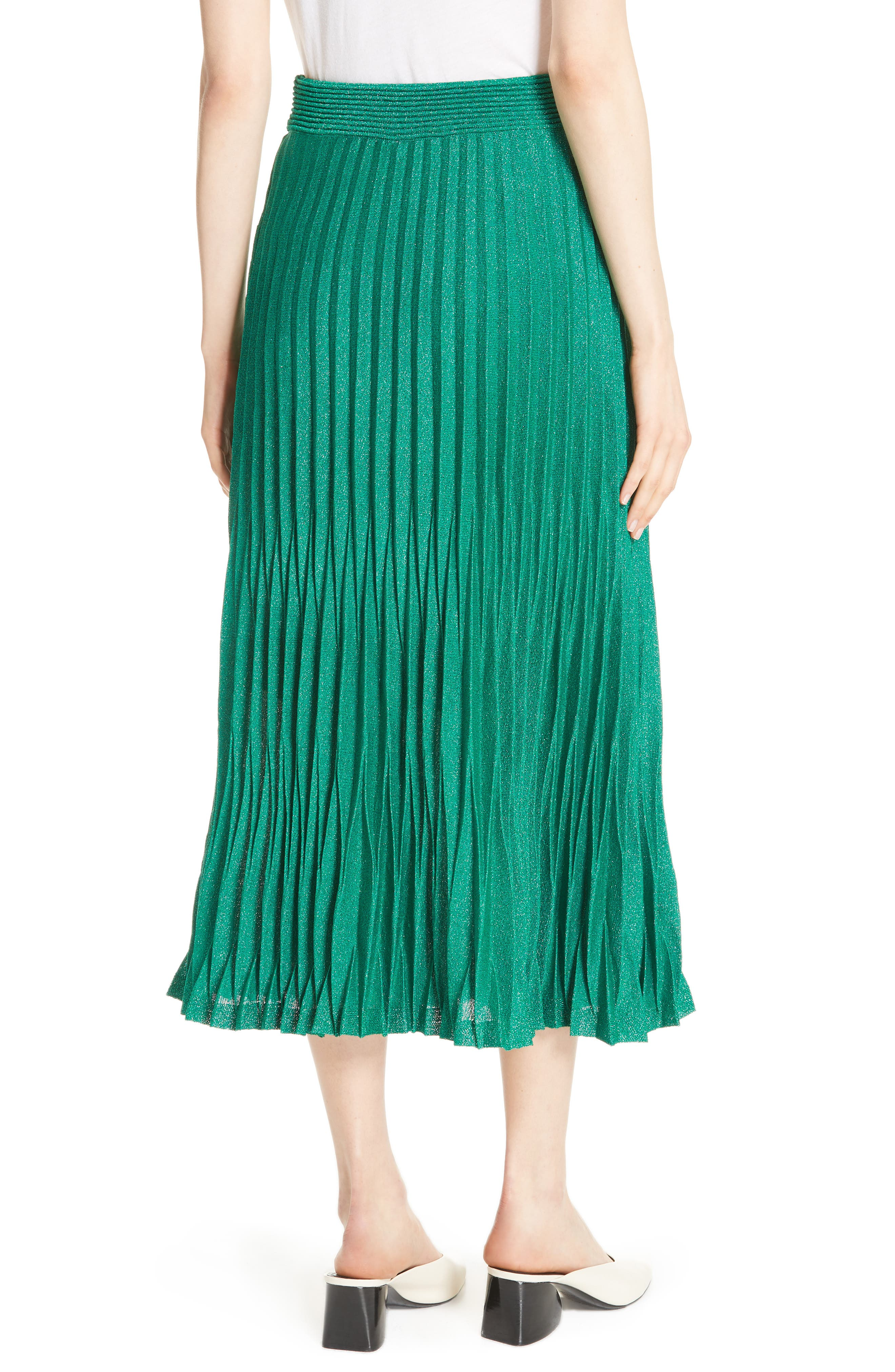 Alternate Image 2  - maje Jupette Pleated Midi Skirt